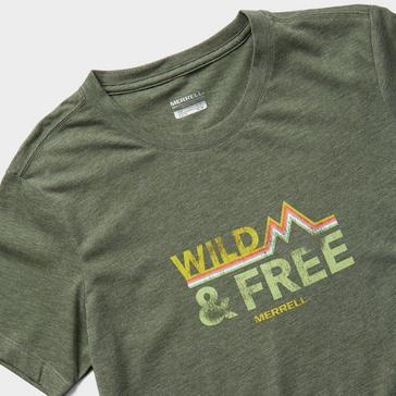 Green Merrell Women's Wild Short Sleeve T-Shirt