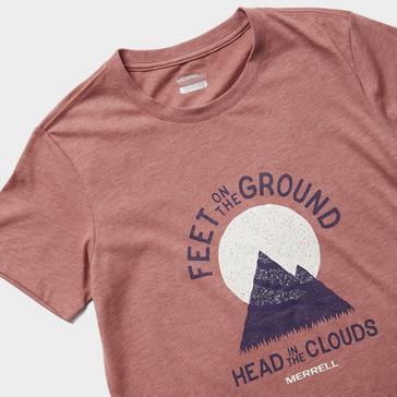 Red Merrell Women's Grounded Short Sleeved T-Shirt
