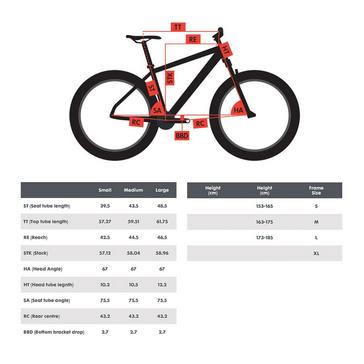 "Red POLYGON Siskiu D5 27.5"" Full Suspension Mountain Bike"