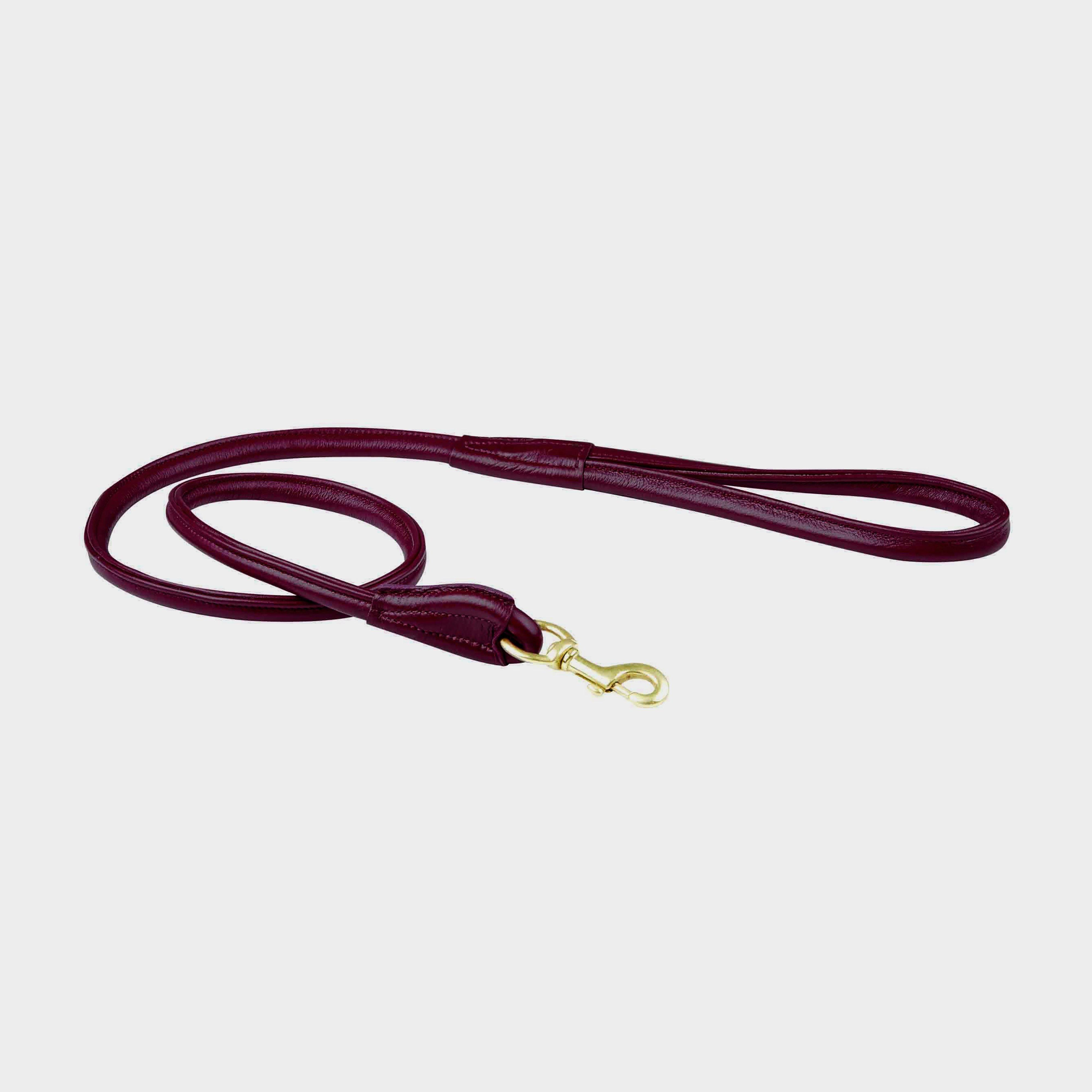 Image of Weatherbeeta Rolled Leather Dog Lead - Purple/Purple, Purple/Purple