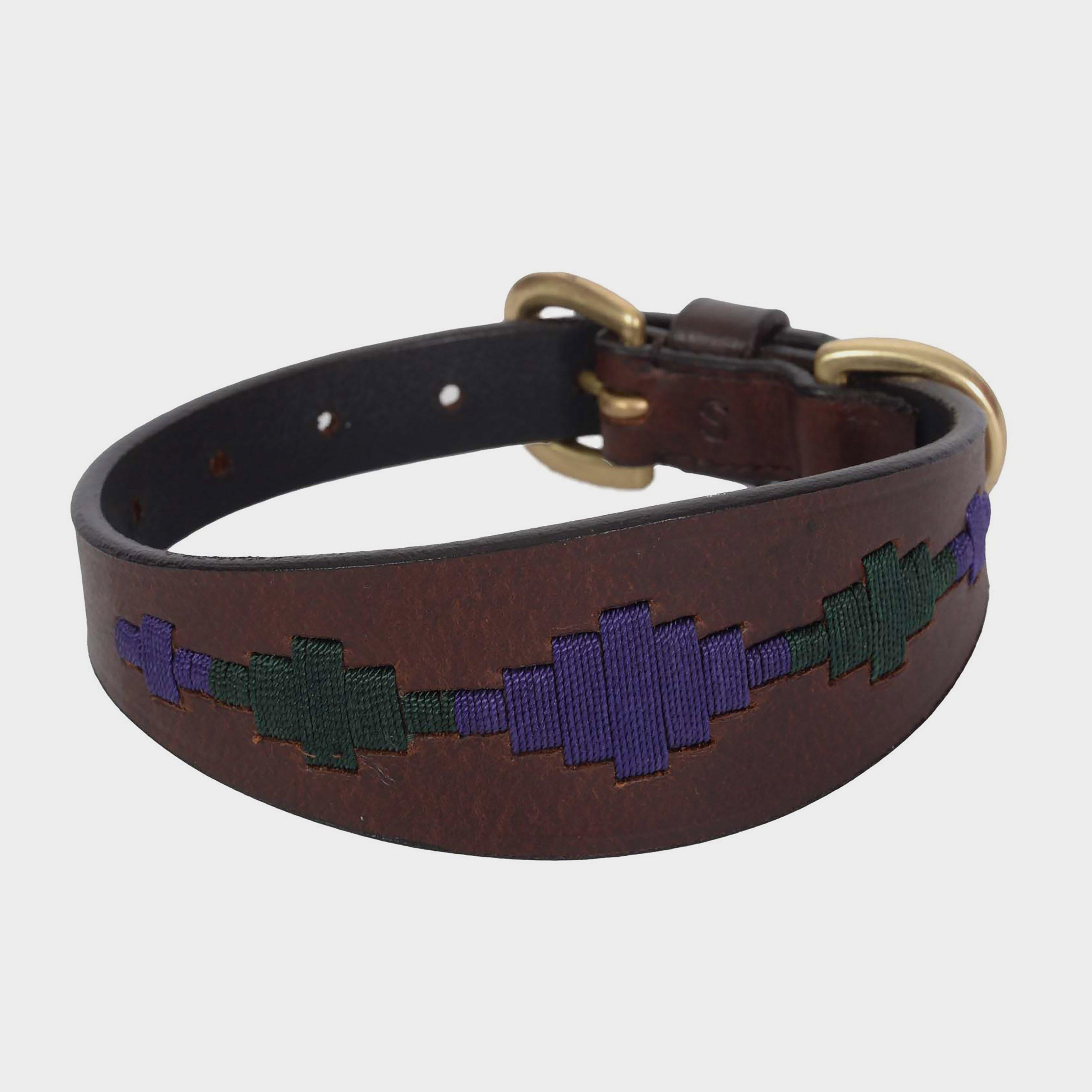 Image of Weatherbeeta Lurcher Polo Leather Dog Collar - Brown/Brown, Brown/Brown