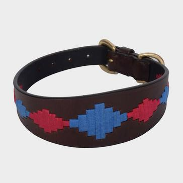 Brown WEATHERBEETA Lurcher Polo Leather Dog Collar