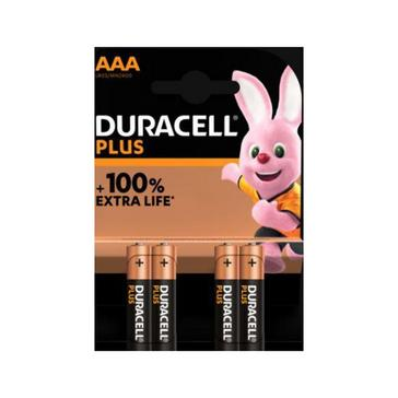 Black Duracell AAA Plus 100 Batteries (4 pack)
