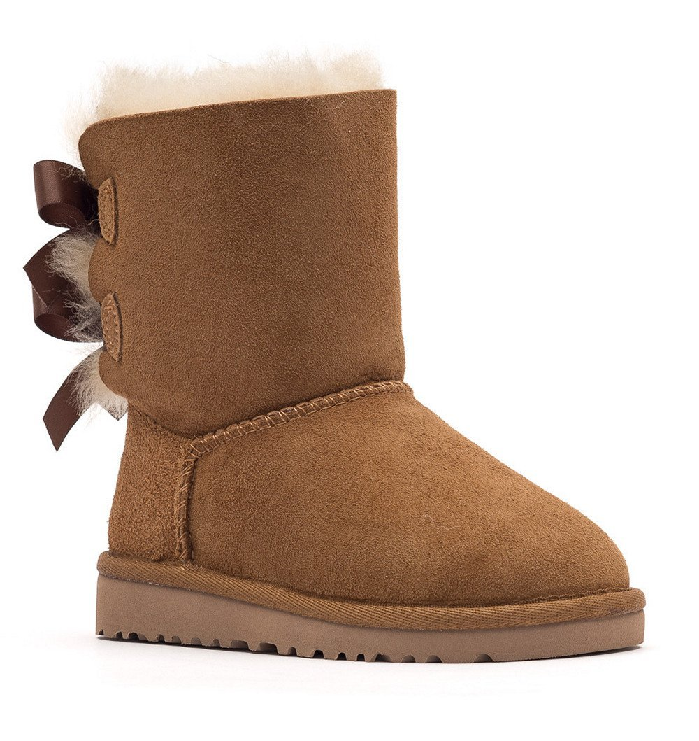 Ugg Infant Bailey Bow Sheepskin Boots - Chestnut