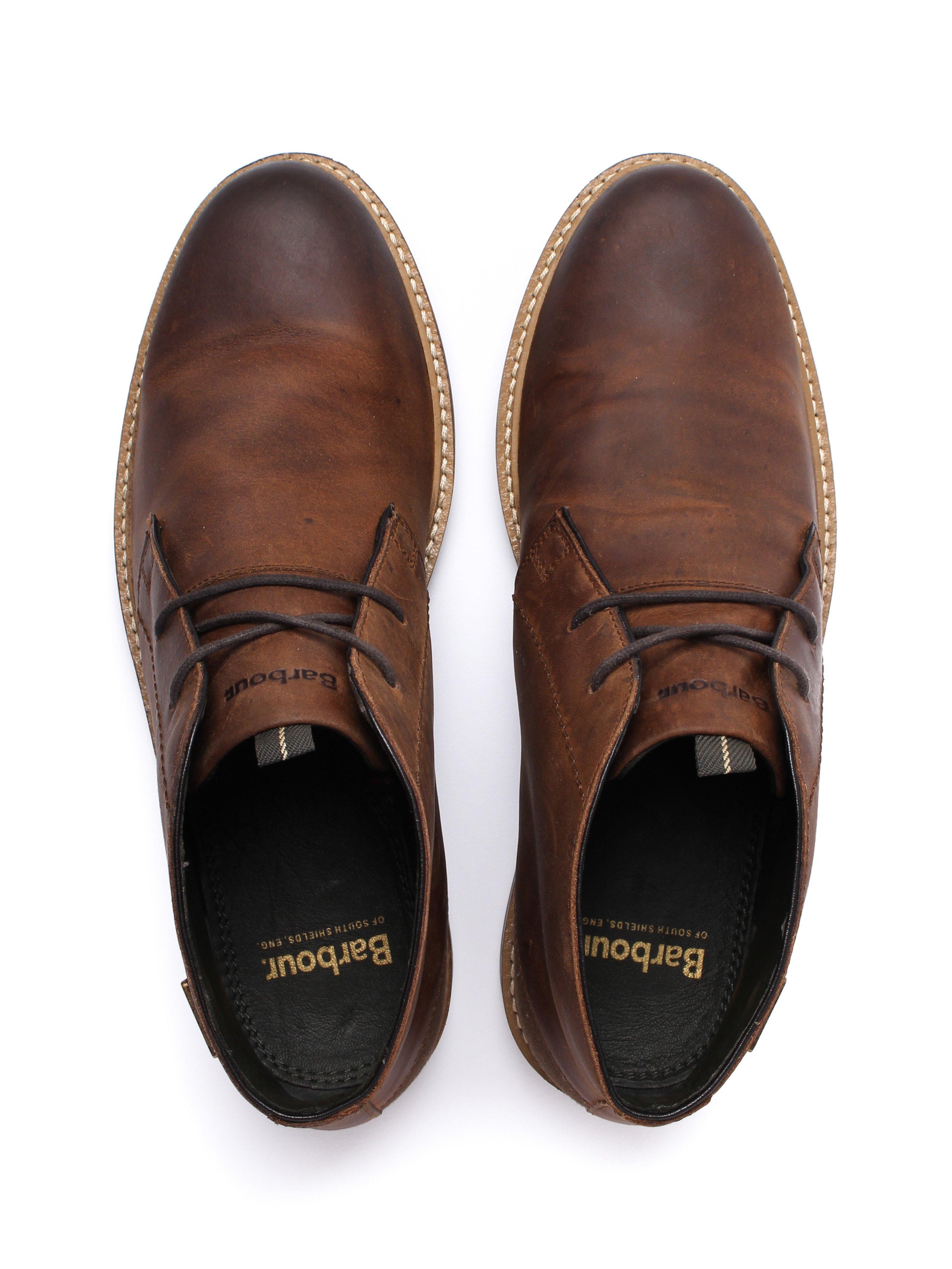 Barbour Men's Readhead Leather Chukka Boots - Tan