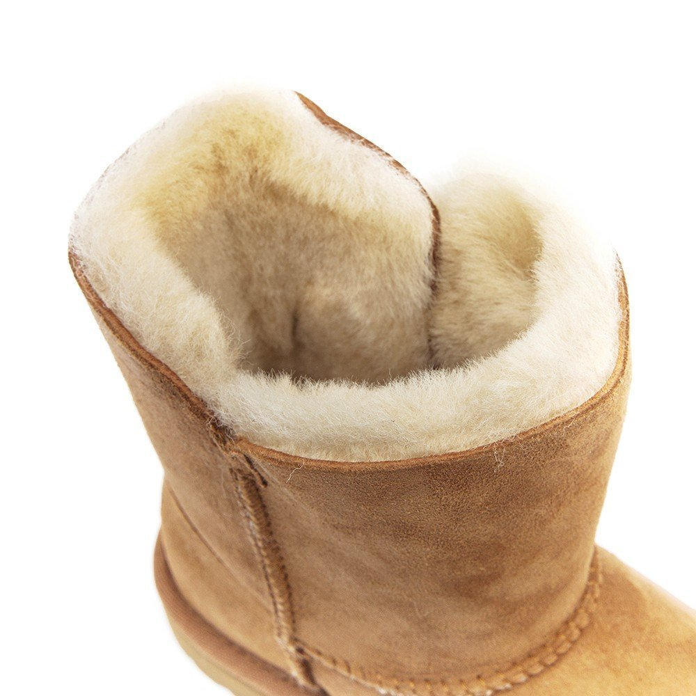 Ugg Infant Bailey Button Sheepskin Boots - Chestnut