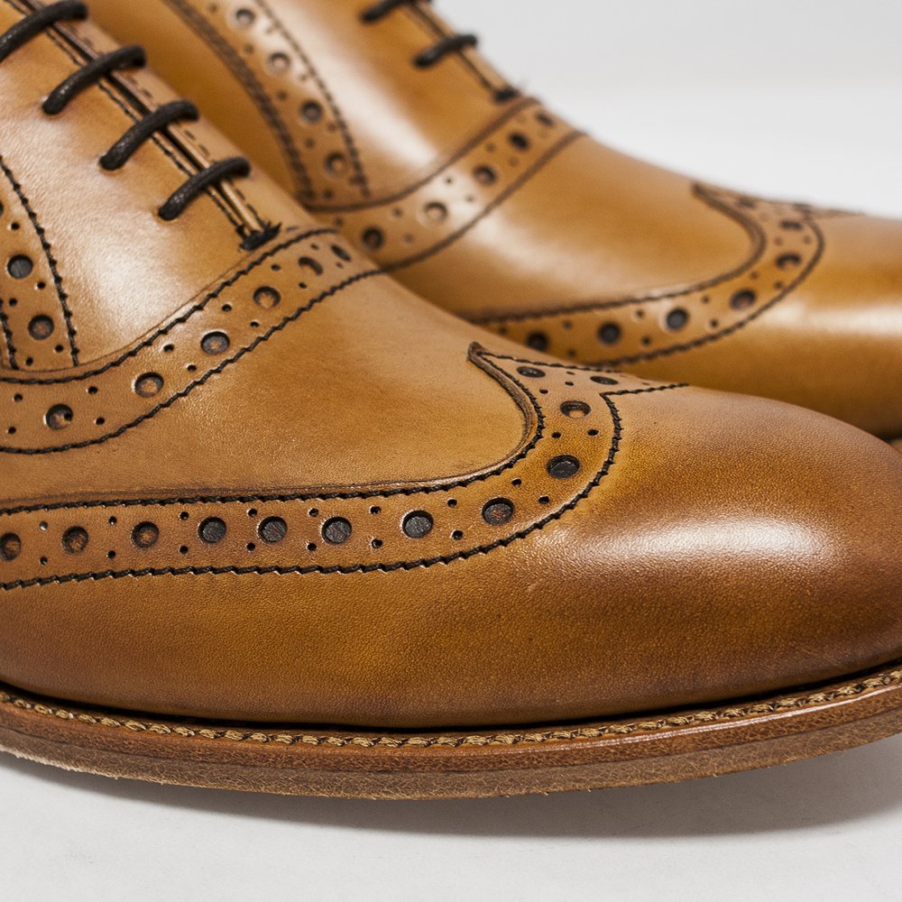 Barker Men's Grant Leather Oxford Brogues - Cedar