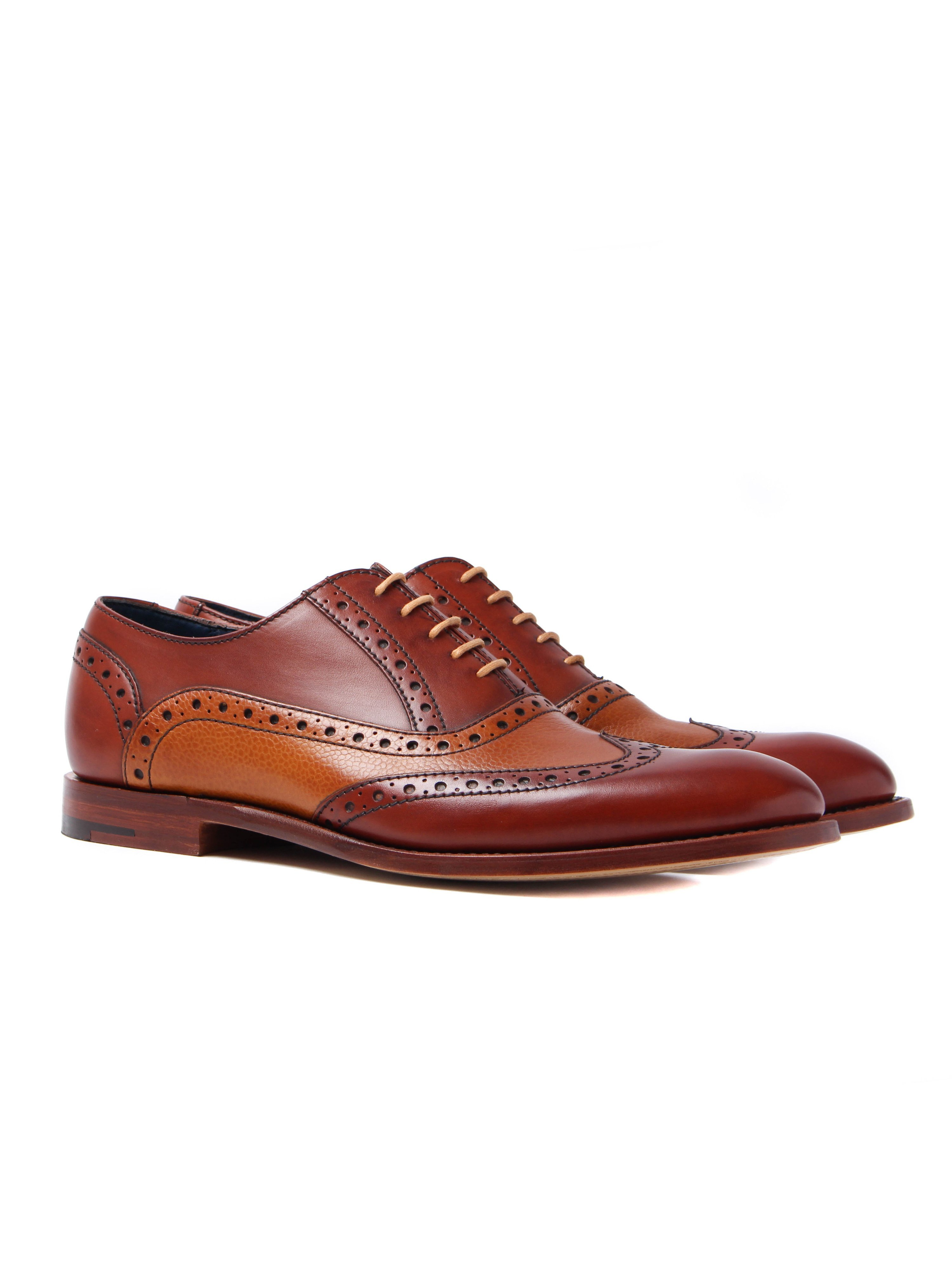 Barker Men's Grant Leather Oxford Brogues - Rosewood & Cedar