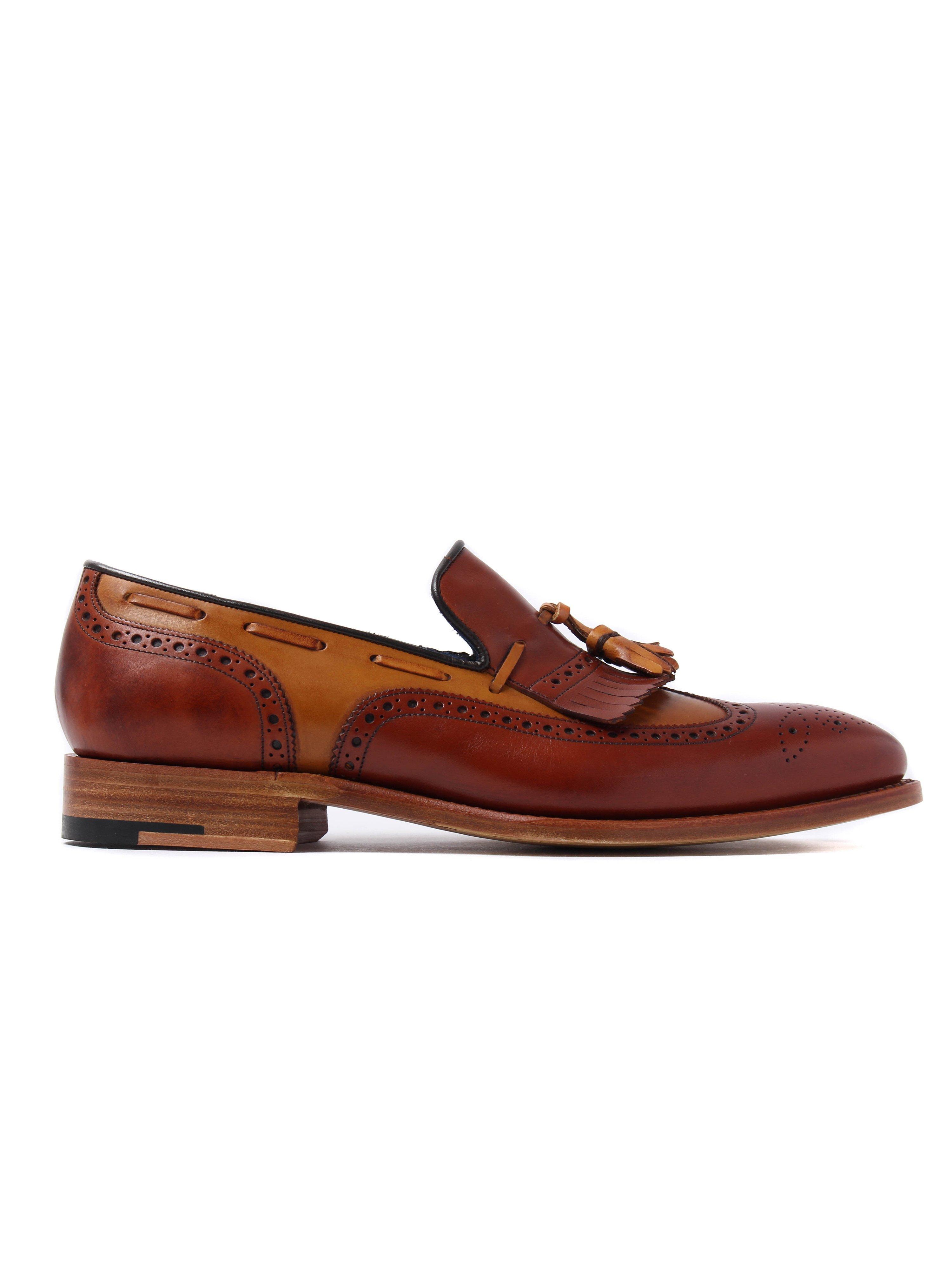 Barker Men's Morgan Leather Tassel Loafers - Cedar & Rosewood