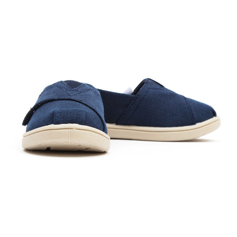 Toms Kid's Classic Canvas Velcro Shoes - Navy