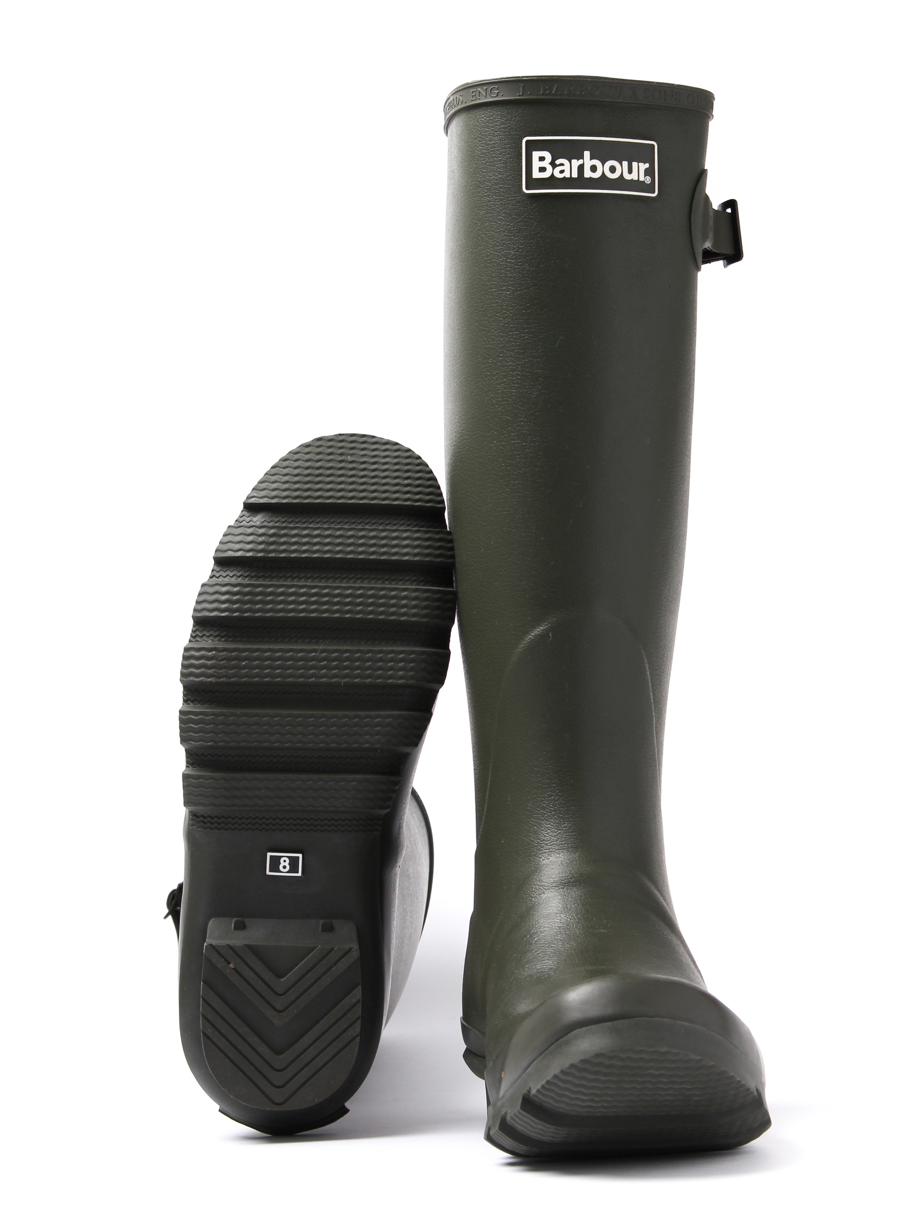 Barbour Men's Bede Wellington Boots - Olive