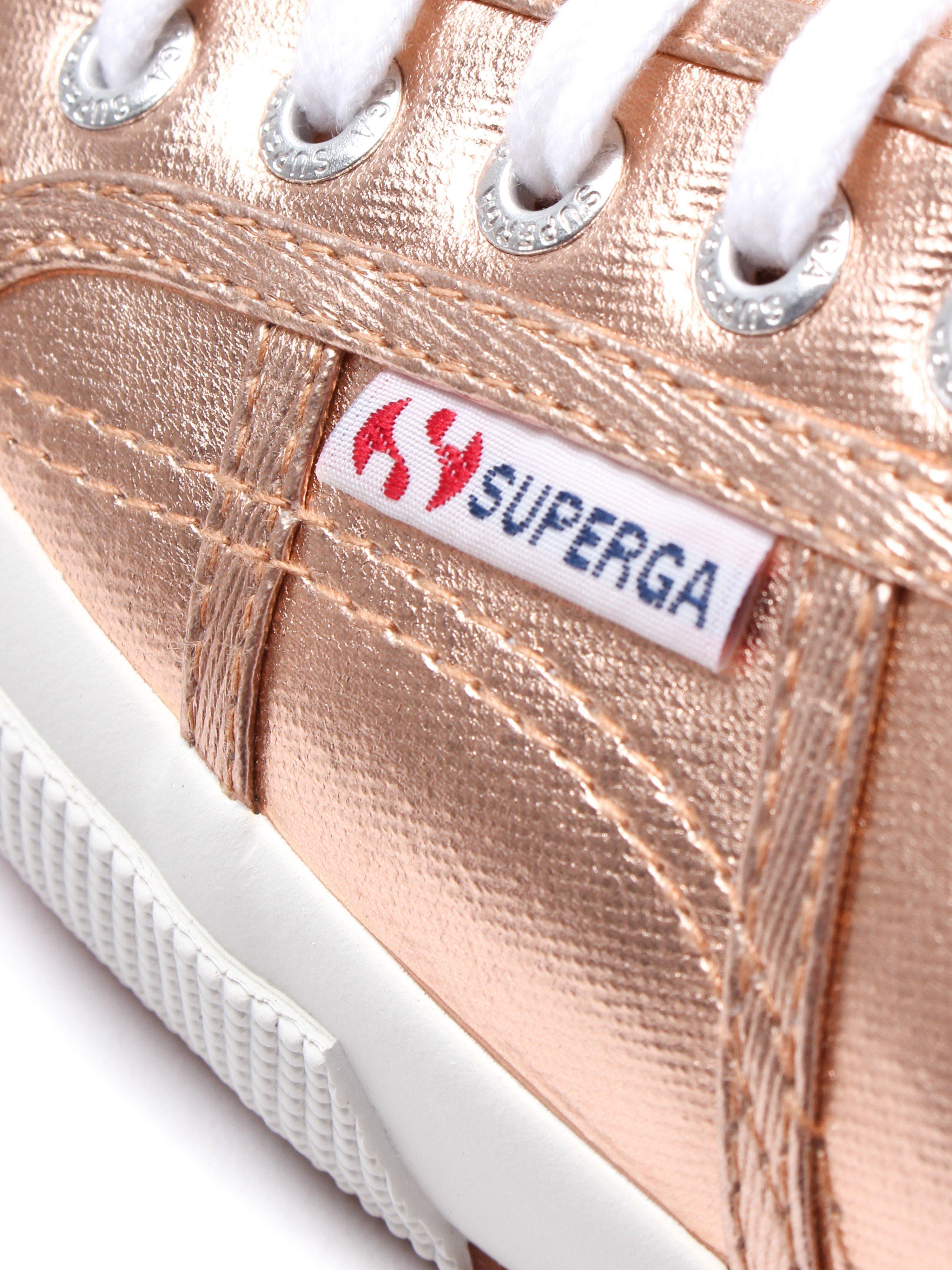 Superga Women's 2750 Cotmetu Metallic Canvas Trainers - Rose Gold