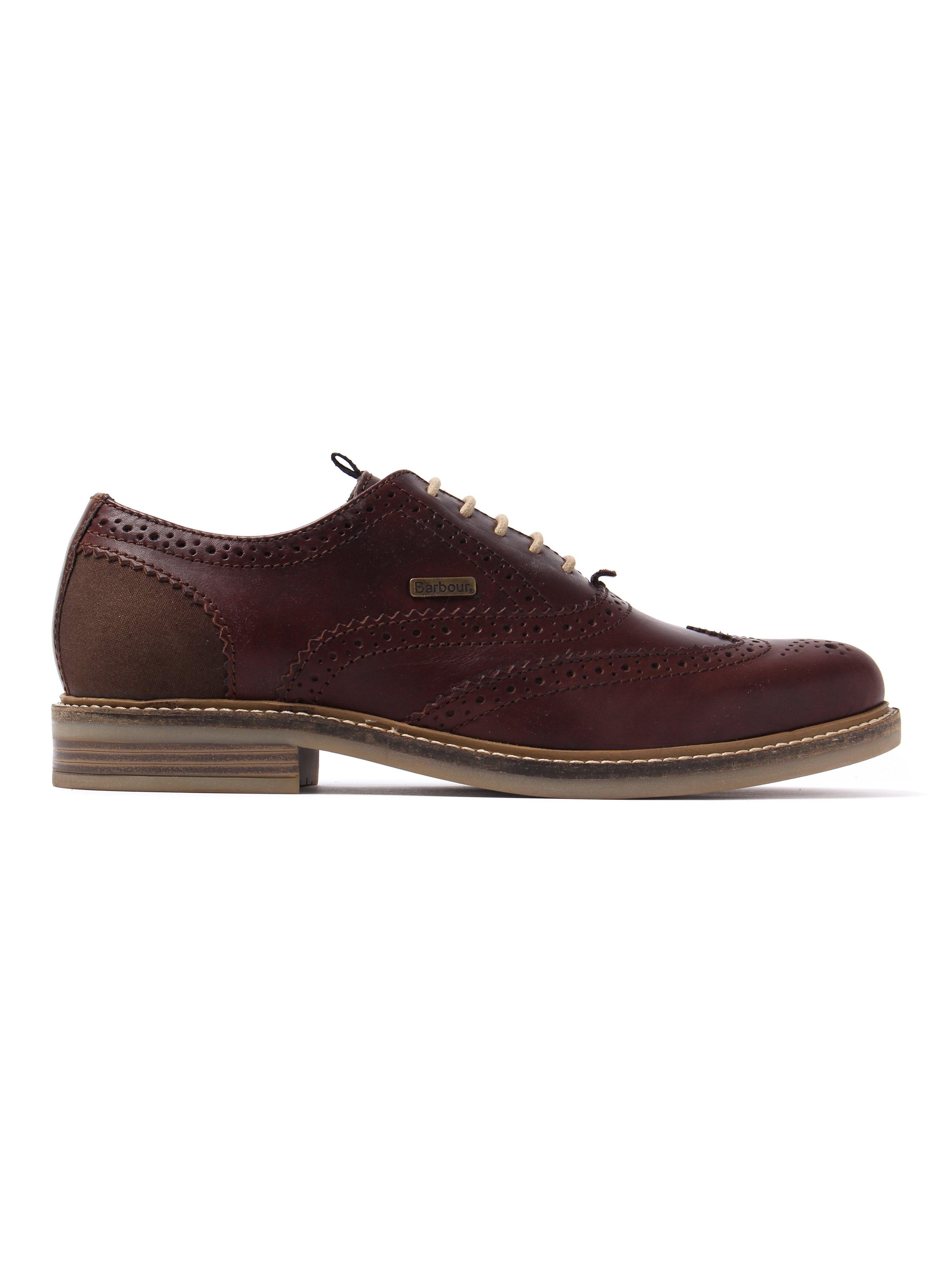 Barbour Men's Redcar Leather Oxford Brogues - Dark Brown