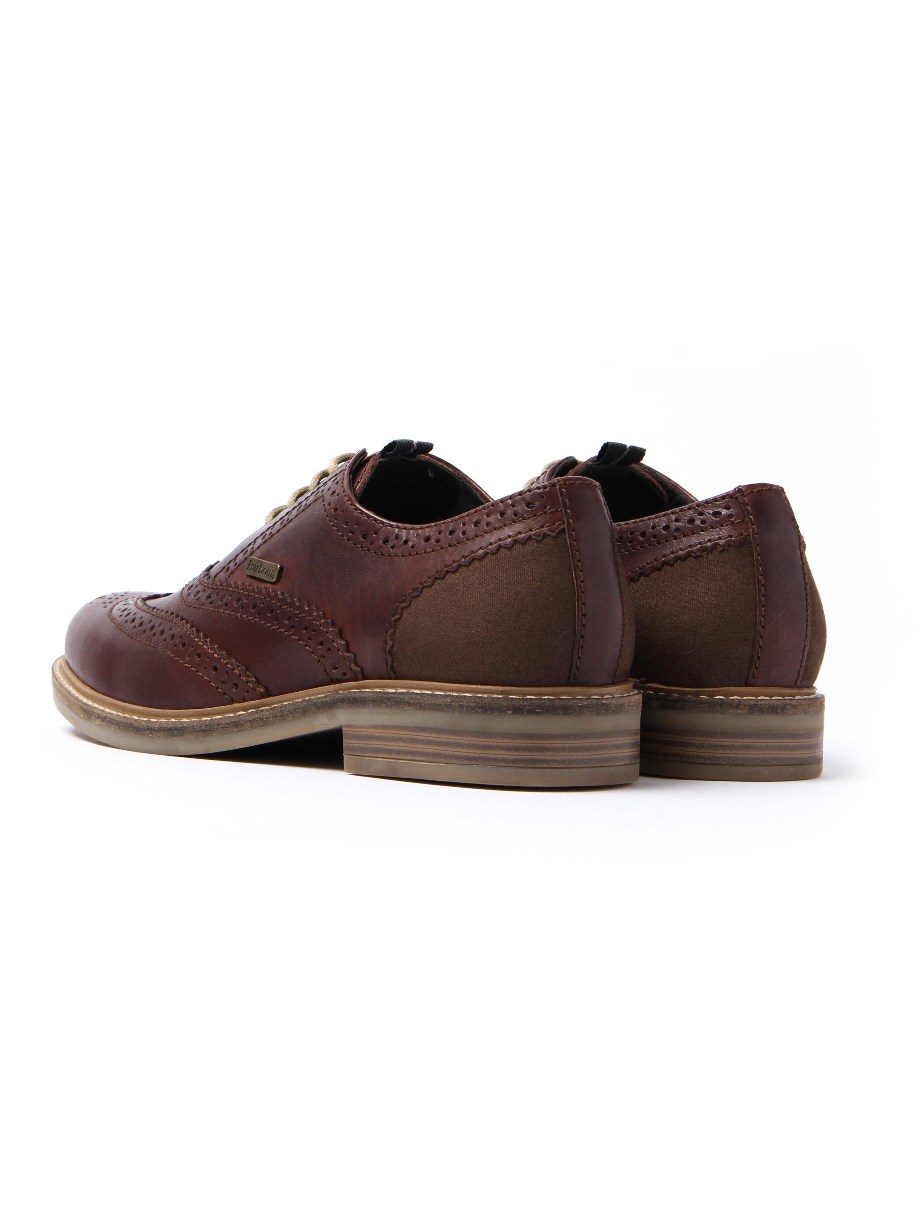 Barbour Men's Redcar Leather Oxford Brogue - Dark Brown