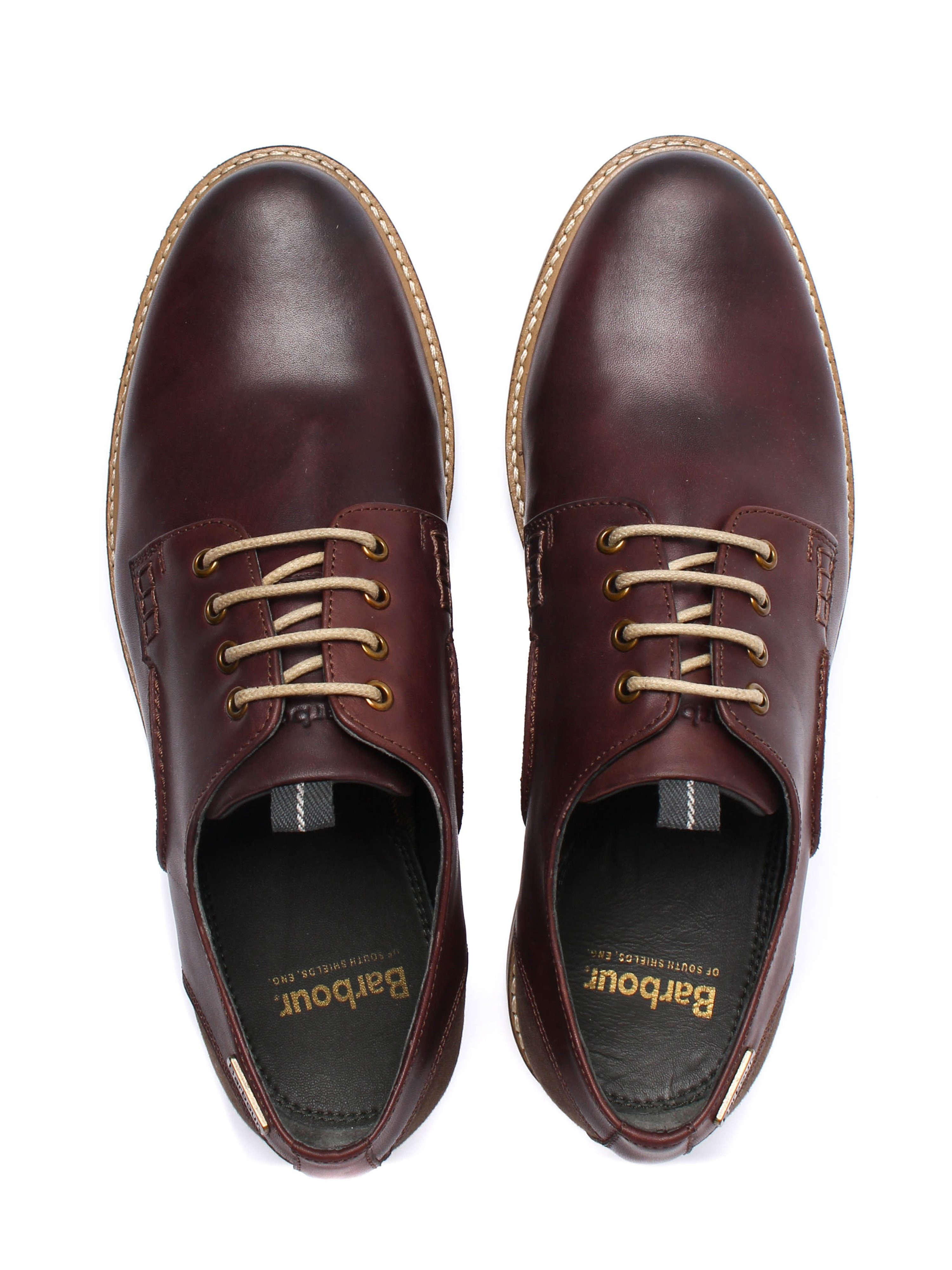 Barbour Men's Bramley Leather Derby Shoe - Brown