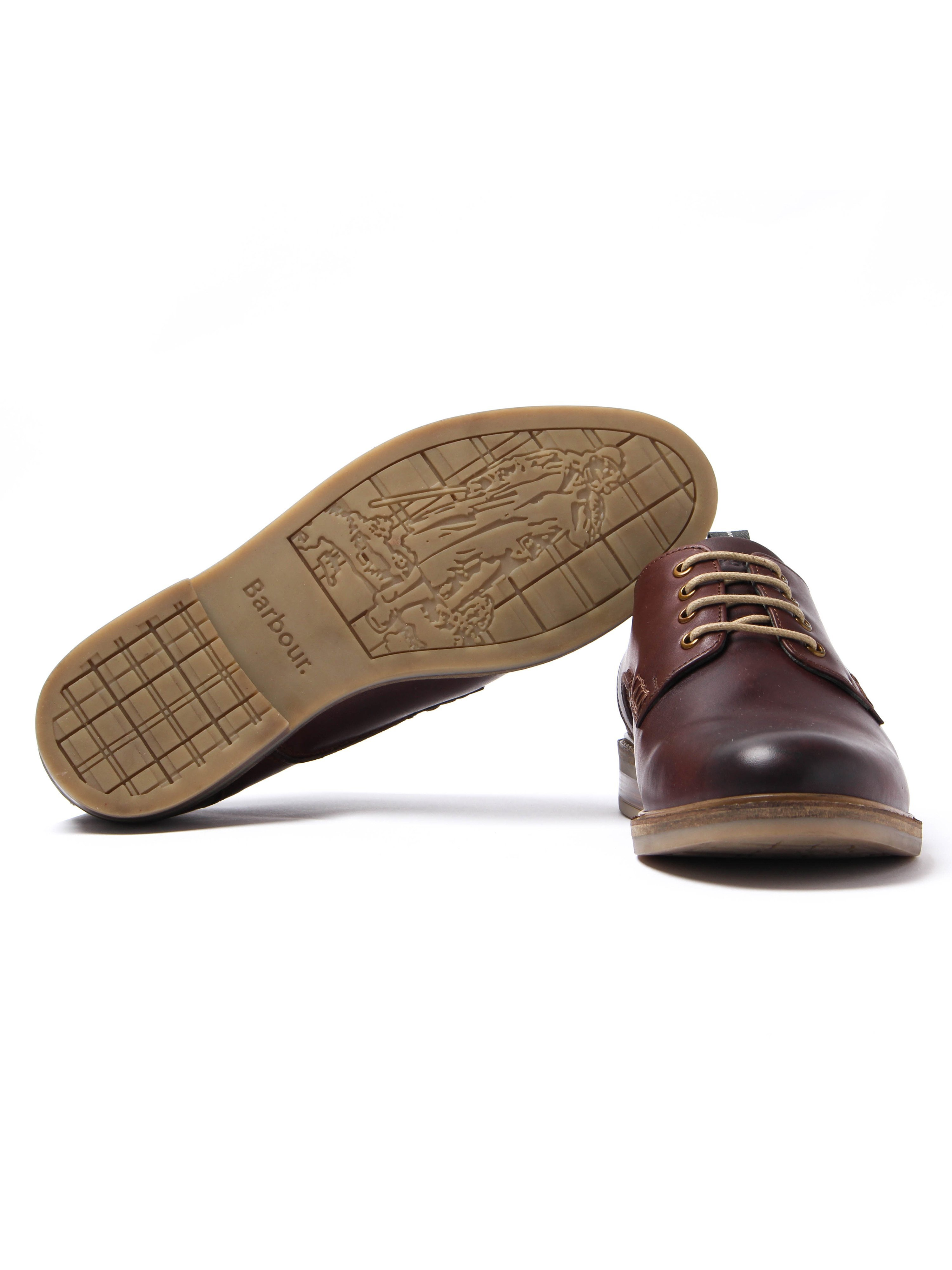 Barbour Men's Bramley Leather Derby Shoes - Brown