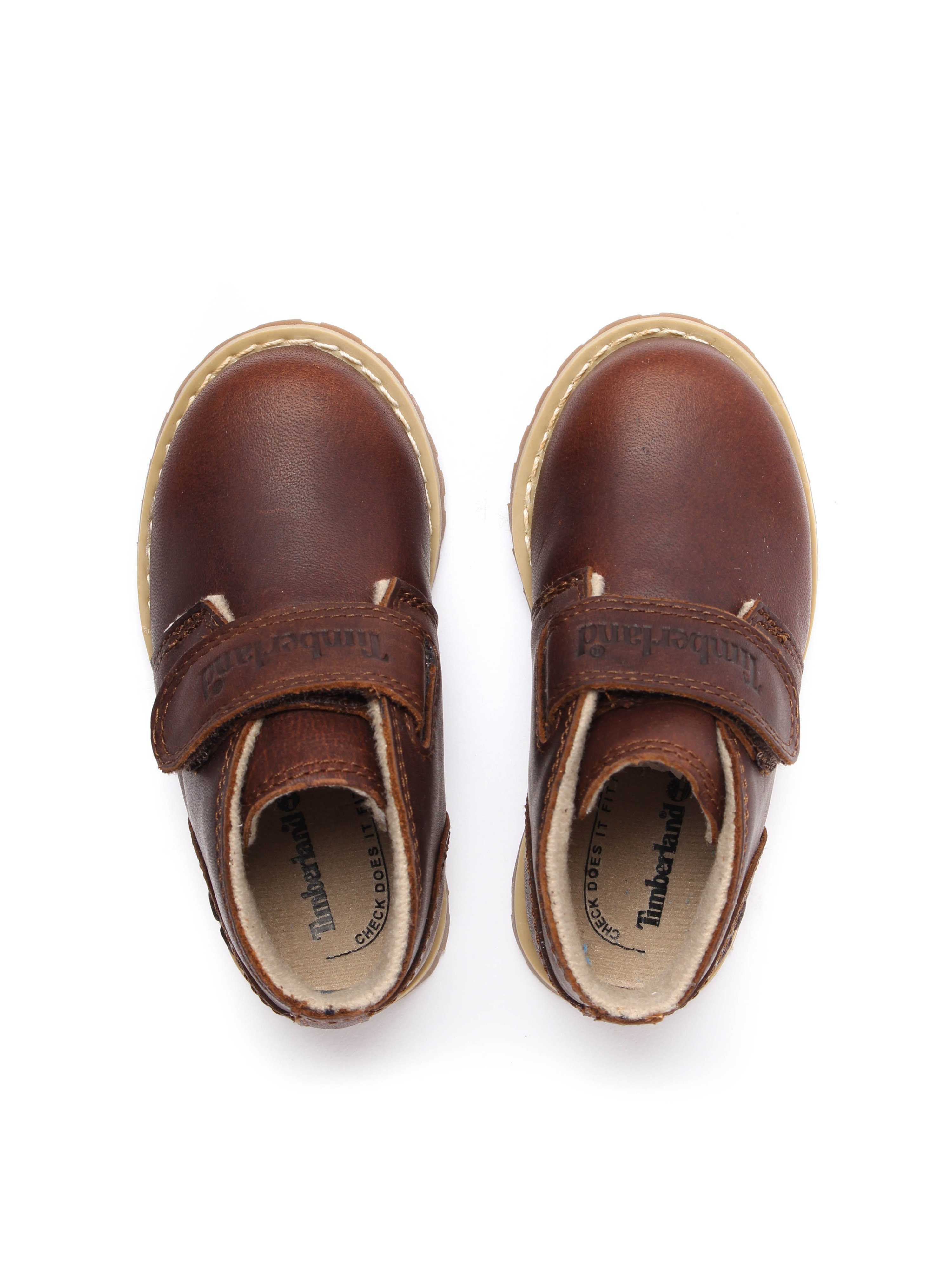 Timberland Infant Pokey Pine Hook and Loop Chukka - Dark Rubber Leather