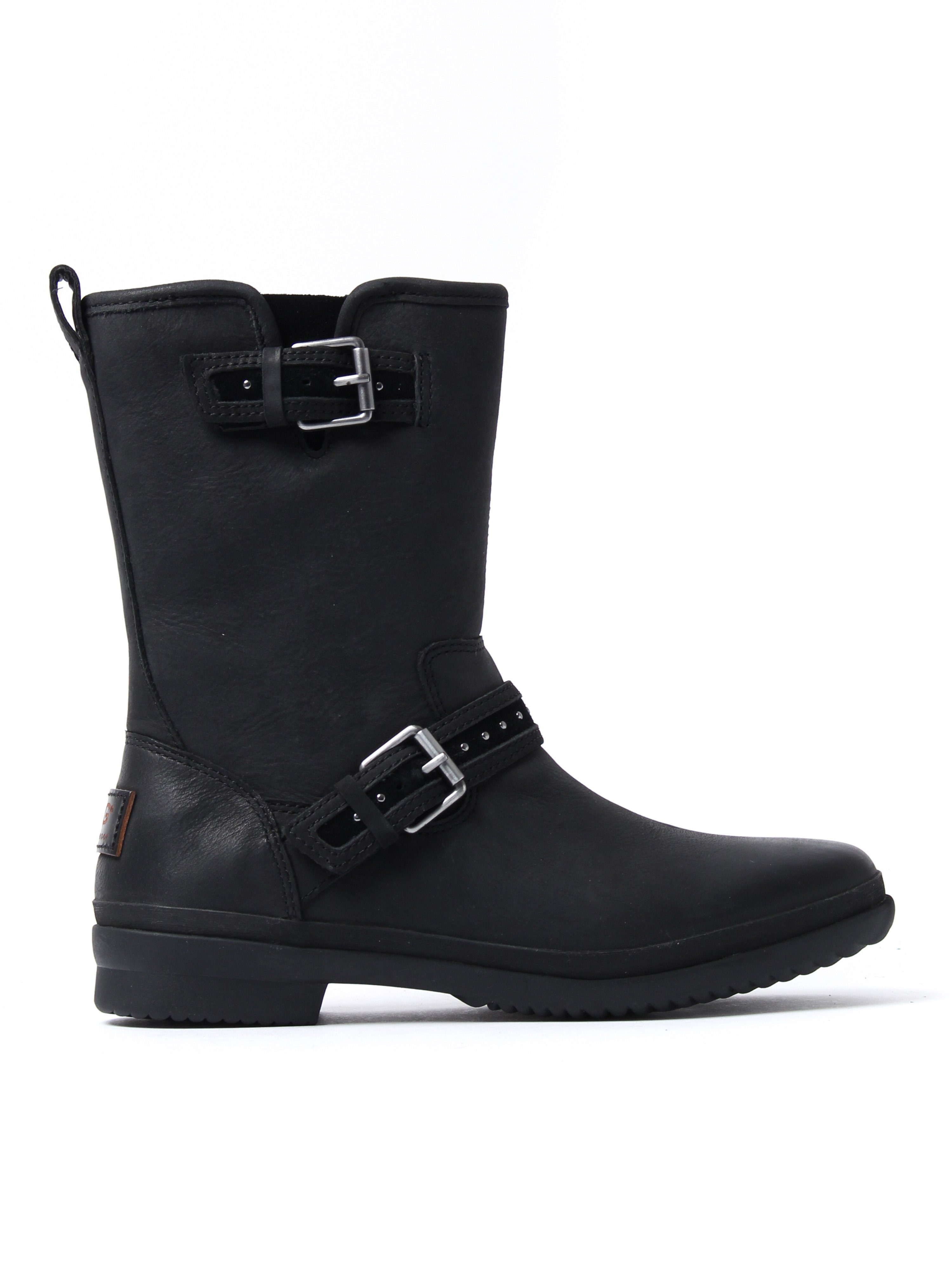 UGG Women's Jenise Biker Boots - Black Leather