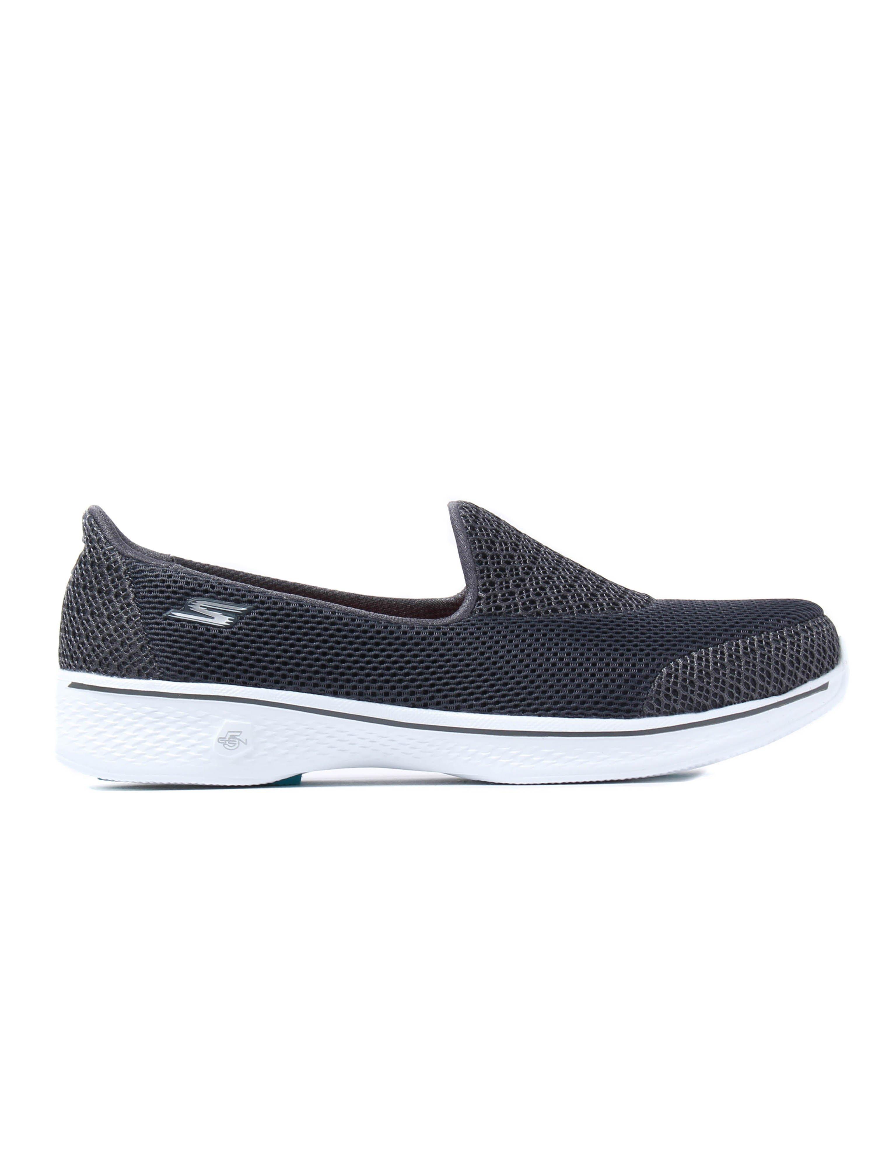 skechers yoga mat shoes. skechers women\u0027s go walk 4 propel trainers - charcoal yoga mat shoes