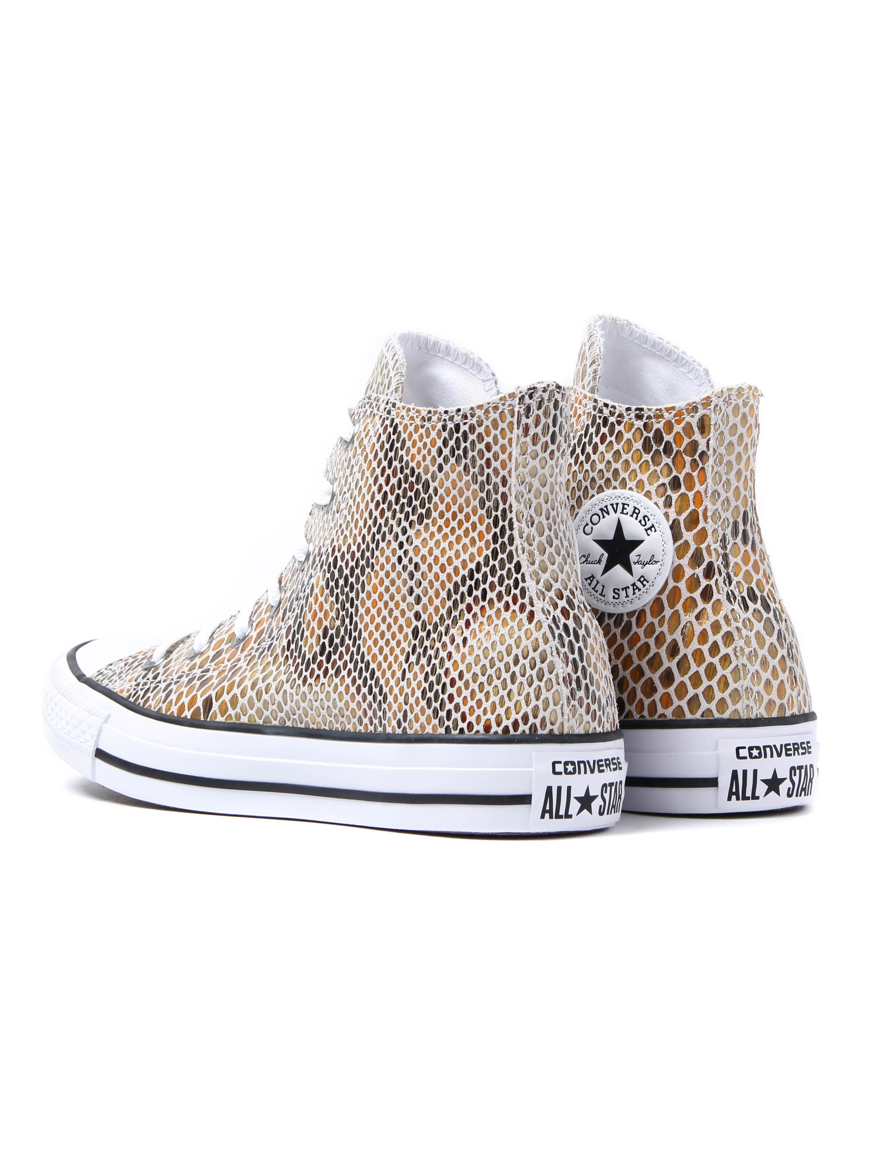 Converse Women's Chuck Taylor All Star HI Trainers – White Snake