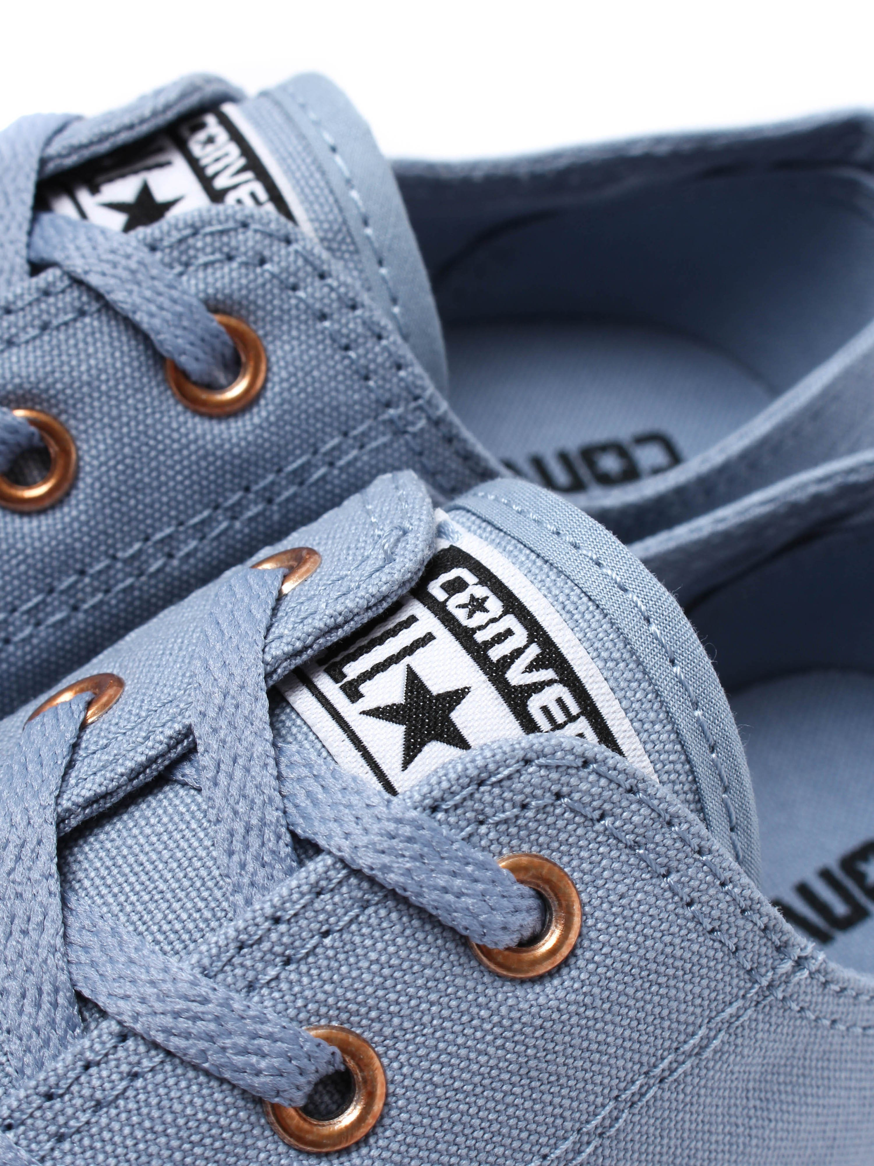 Converse Women's Chuck Taylor All Star Dainty OX Canvas Trainers - Blue Slate