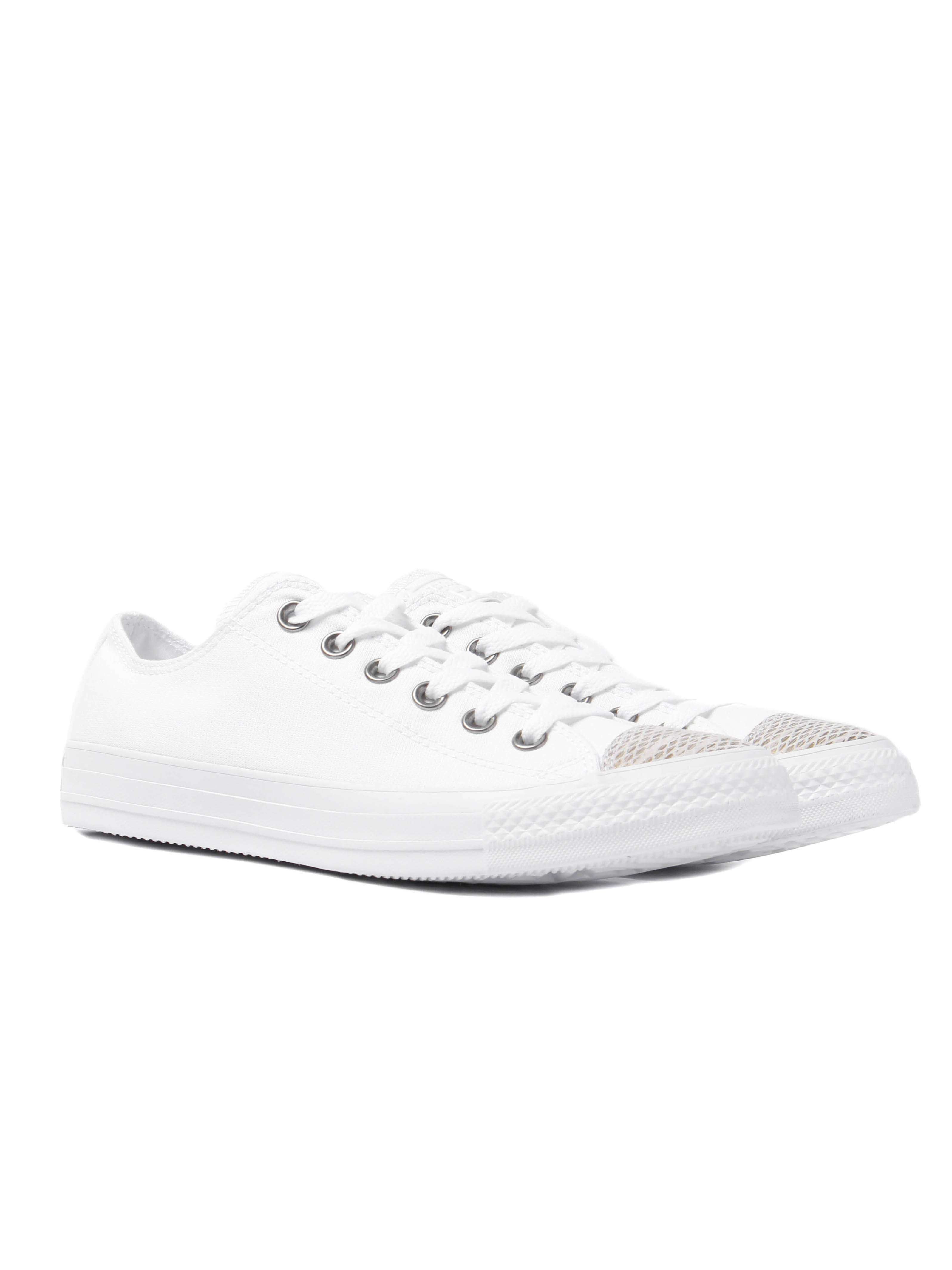 Converse Women's Chuck Taylor All Star OX Trainers – White Snake
