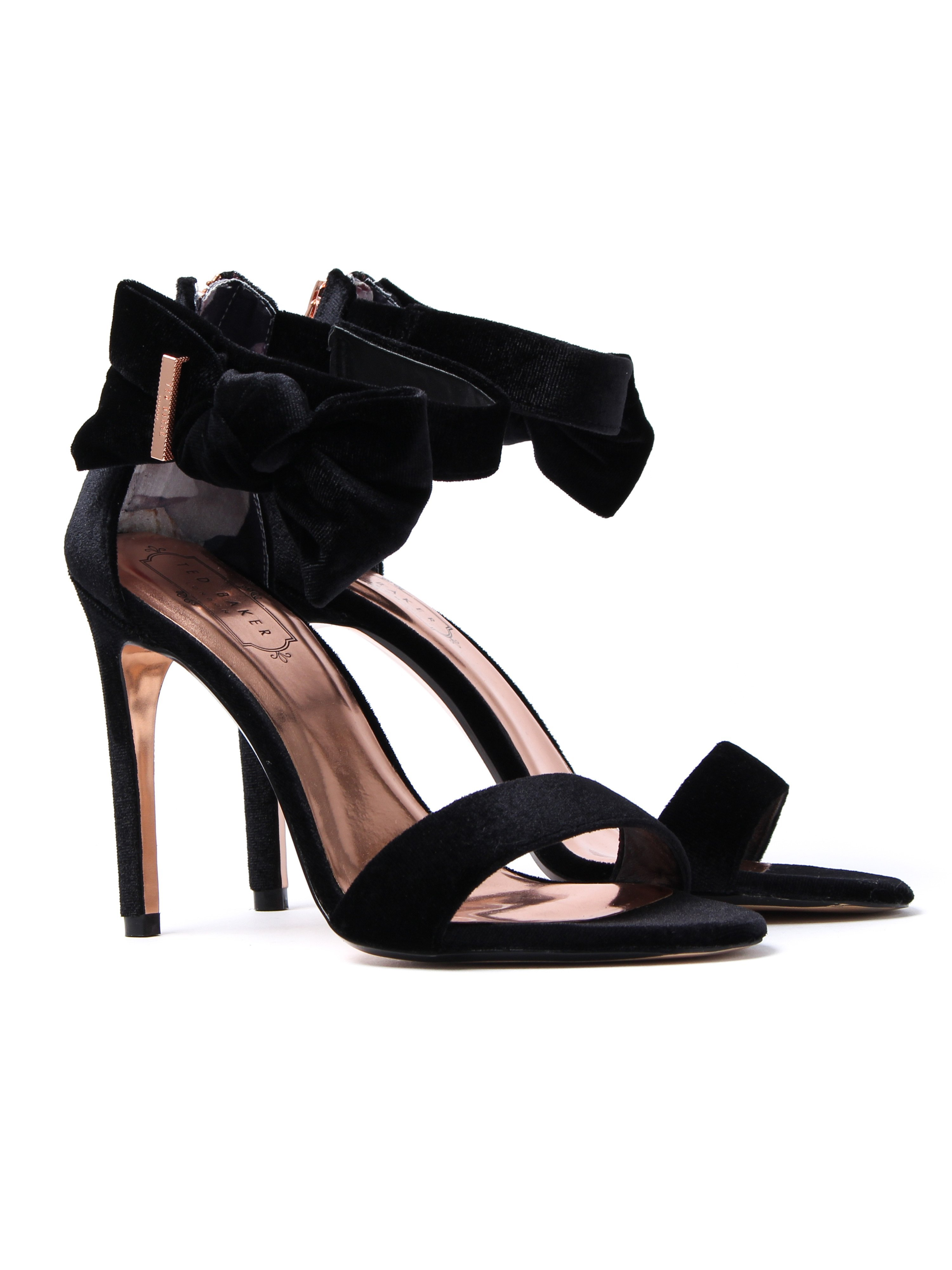 Ted Baker Women's Torabel Heeled Sandals - Black Velvet