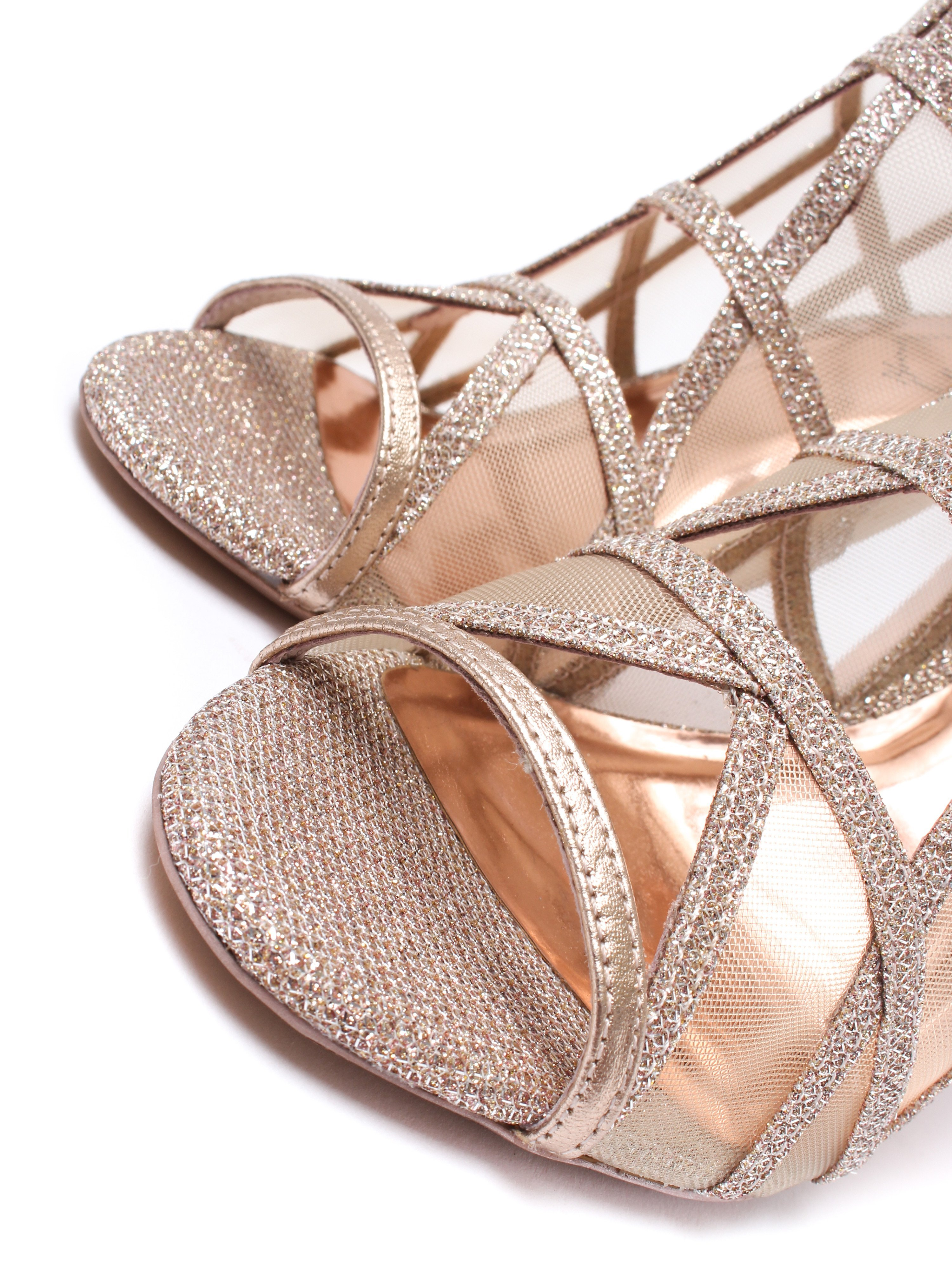 Ted Baker Women's Xstal Peep Toe Heels - Rose Gold