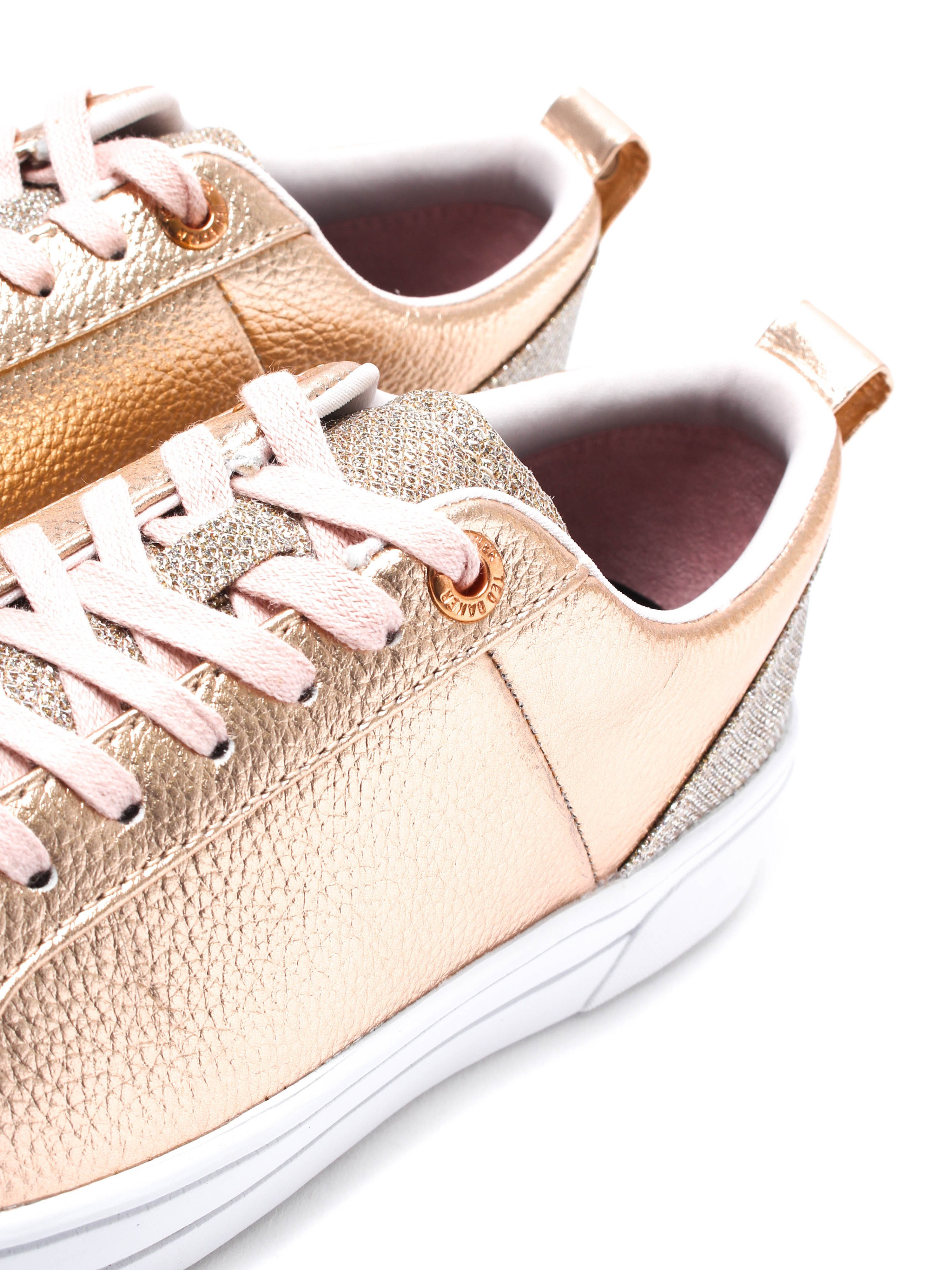 Ted Baker Women's Kulei Trainers - Rose Gold Lurex
