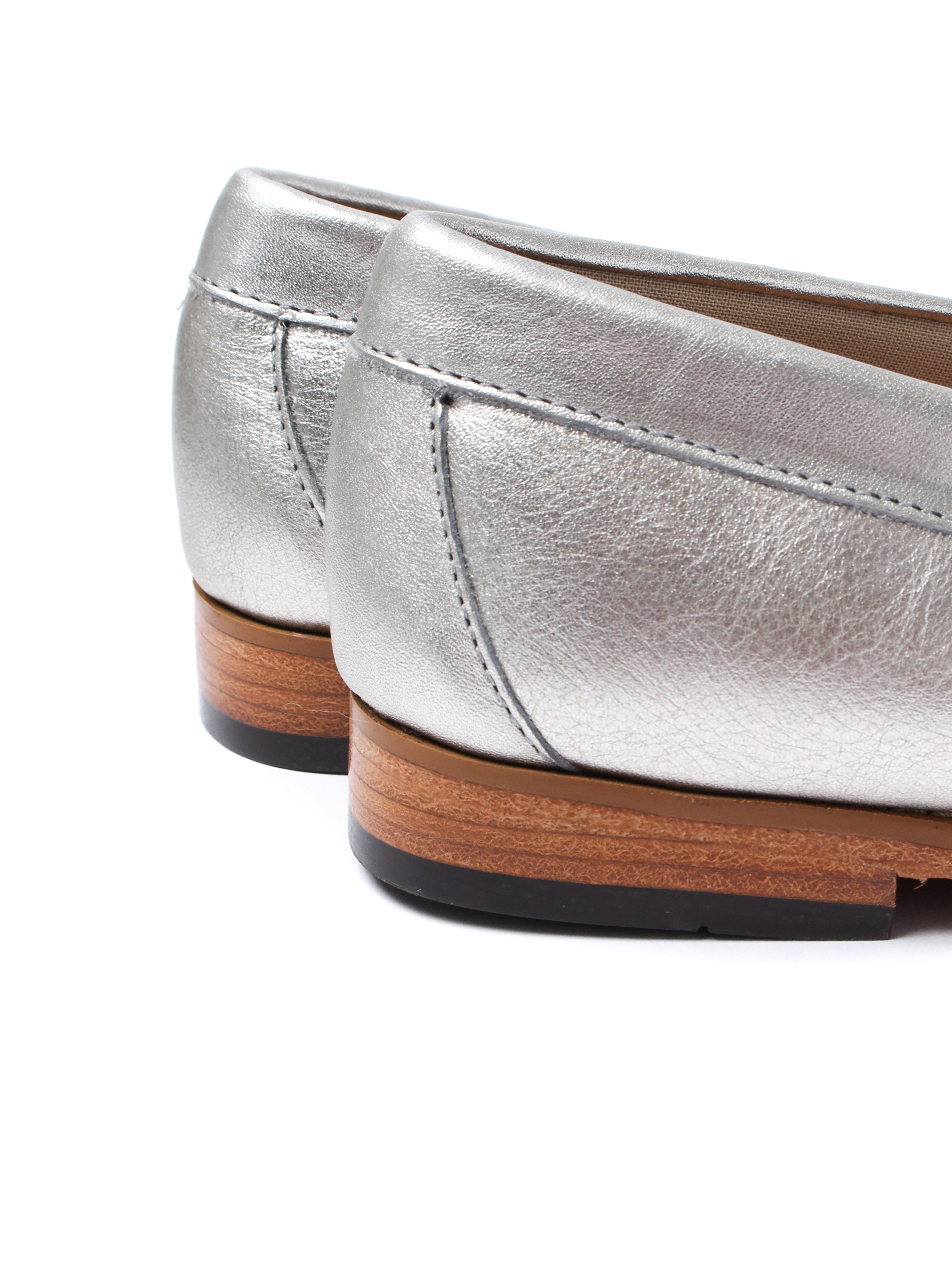 G.H. Bass Women's Weejun Penny Metal Loafer - Silver Leather