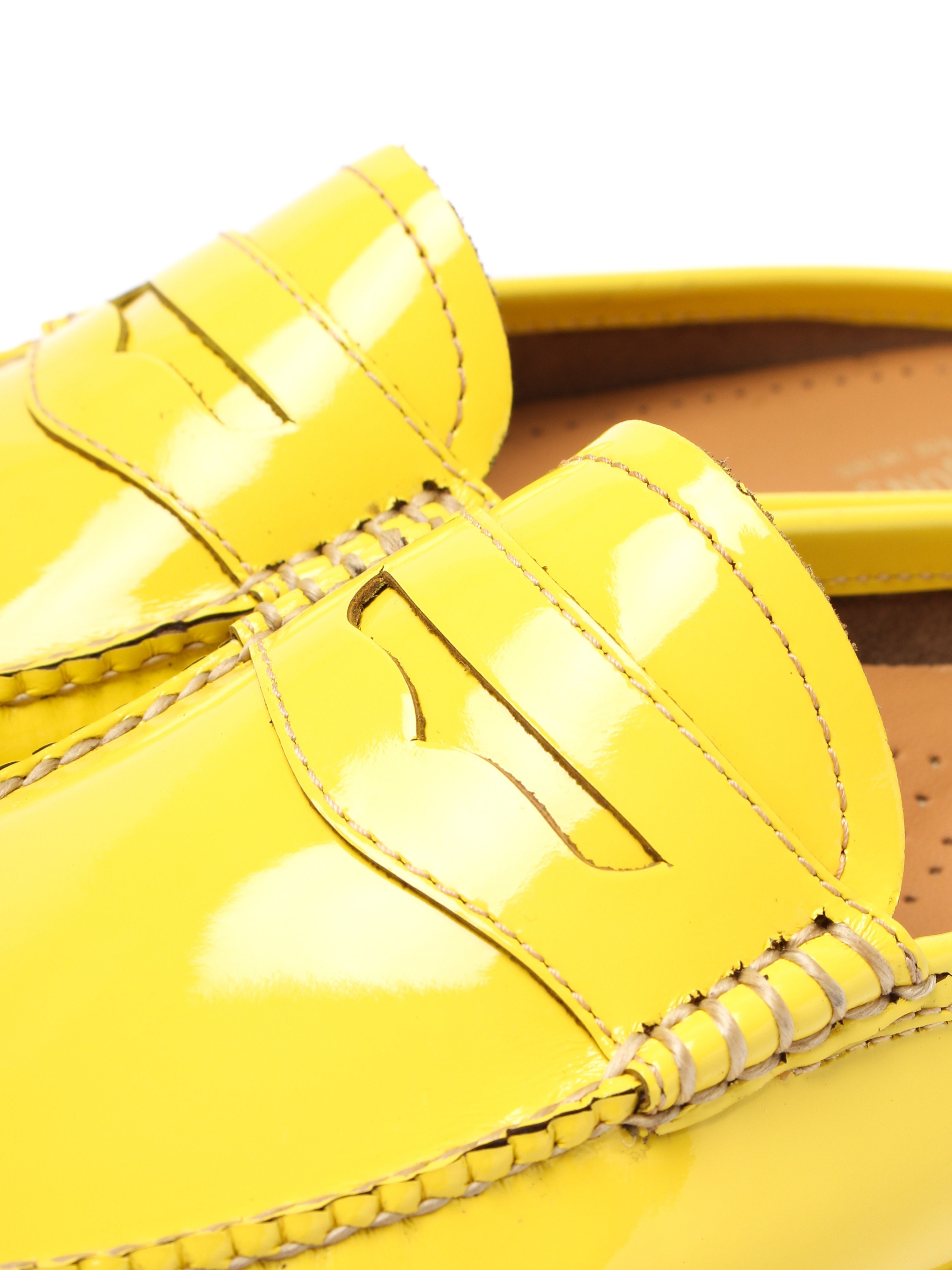 G.H. Bass Women's Weejuns Penny Slide Wheel Loafers - Lemon Patent Leather