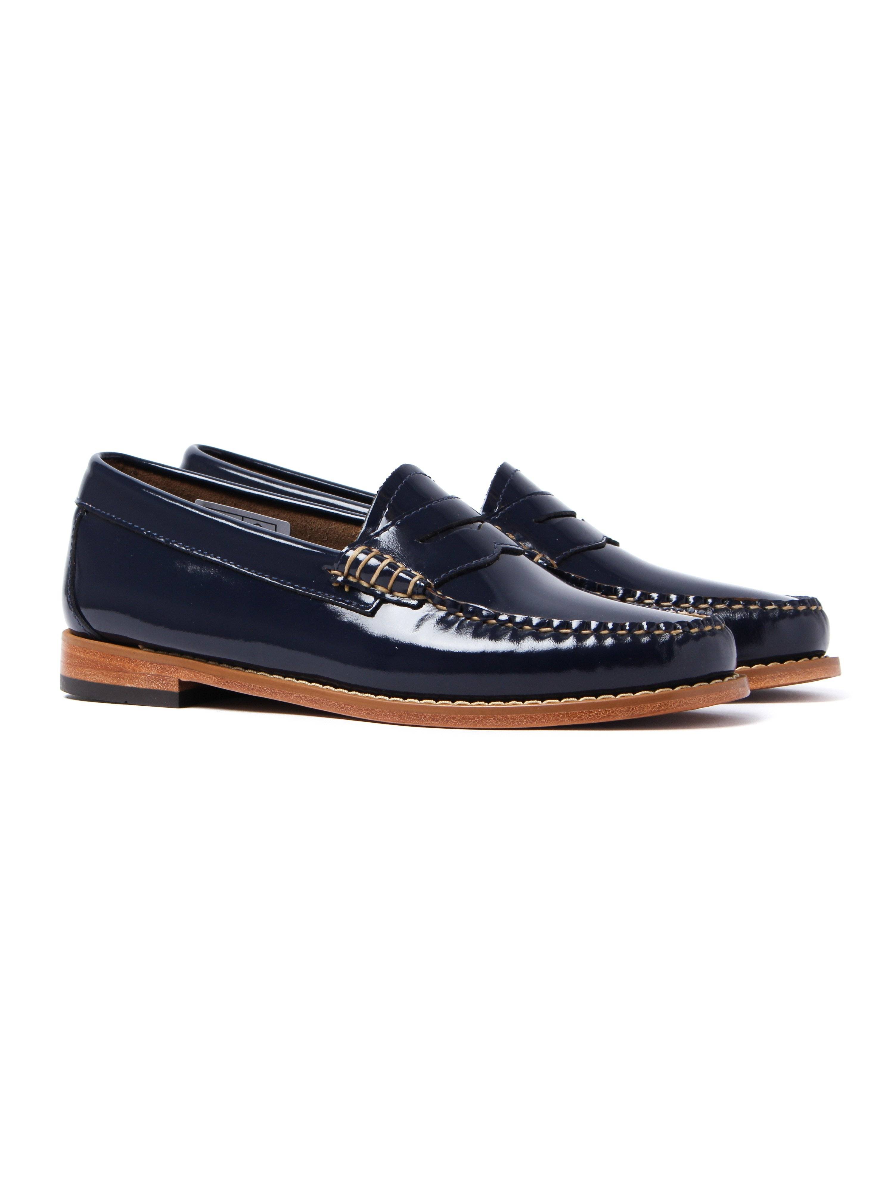 G.H. Bass Women's Weejun Penny Wheel Loafer - Deep Navy Patent Leather