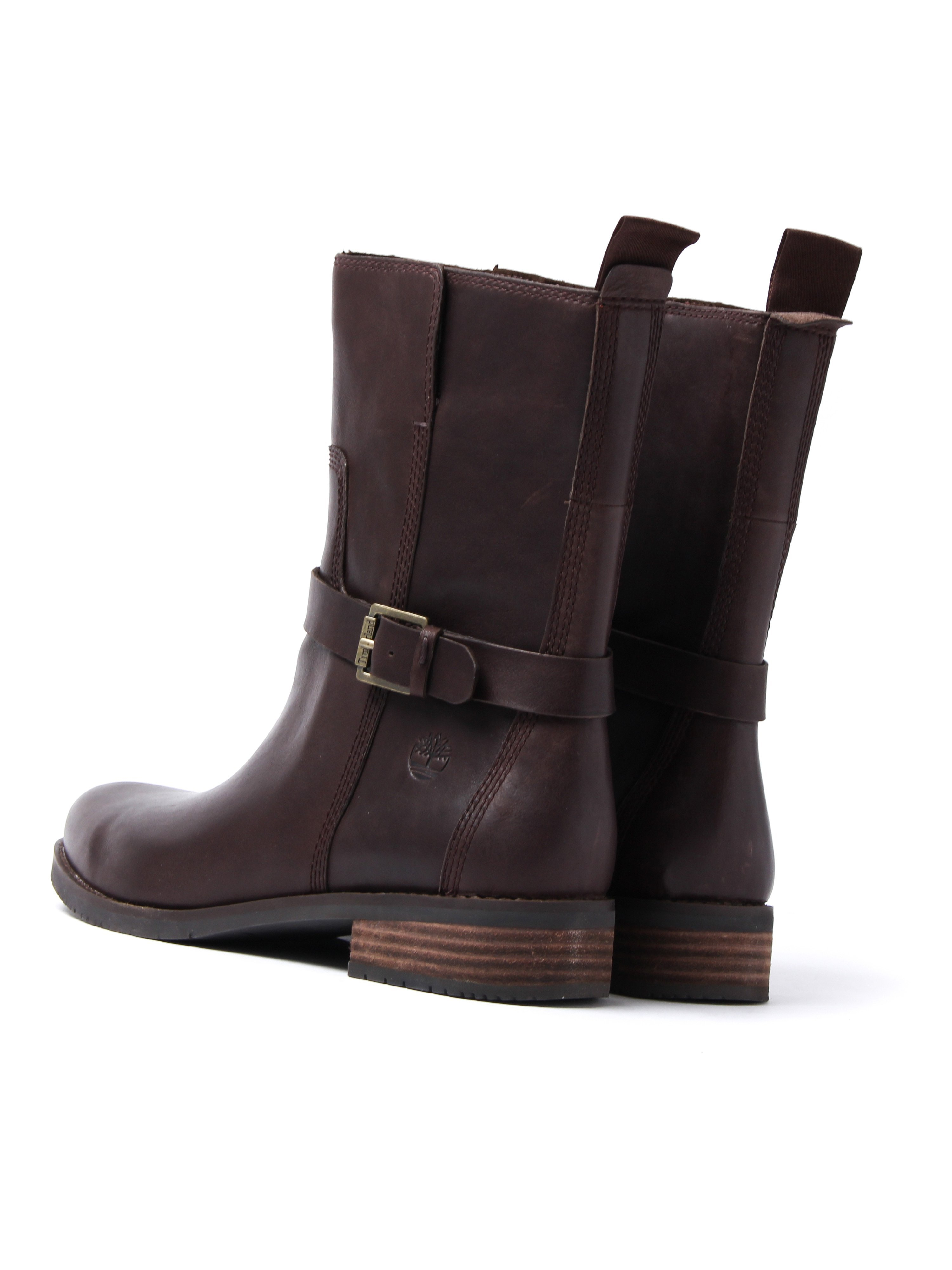 Timberland Women's Venice Park Biker Boots – Brown Leather