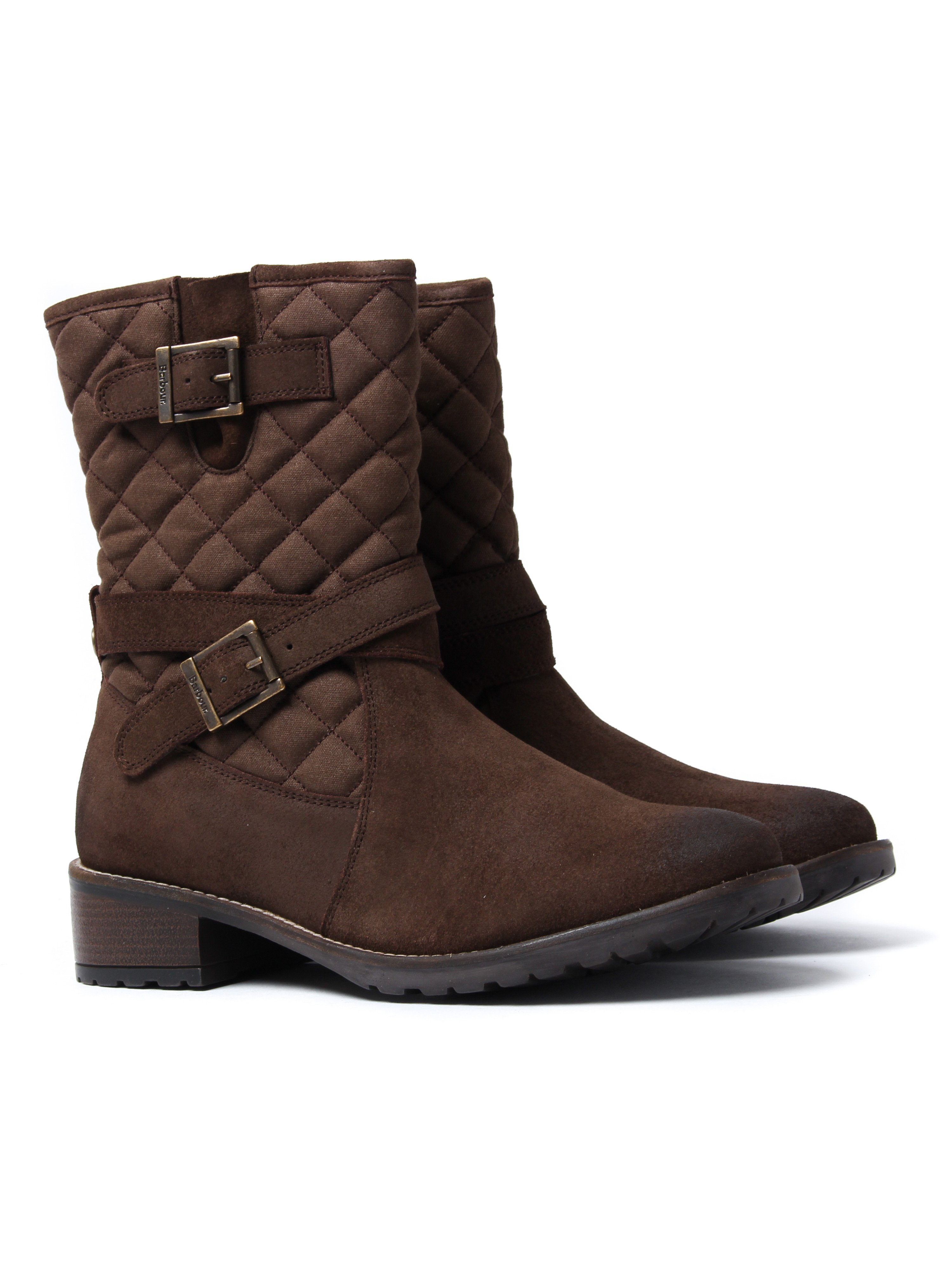 Barbour Women's Barnes Quilted Boots - Brown Suede