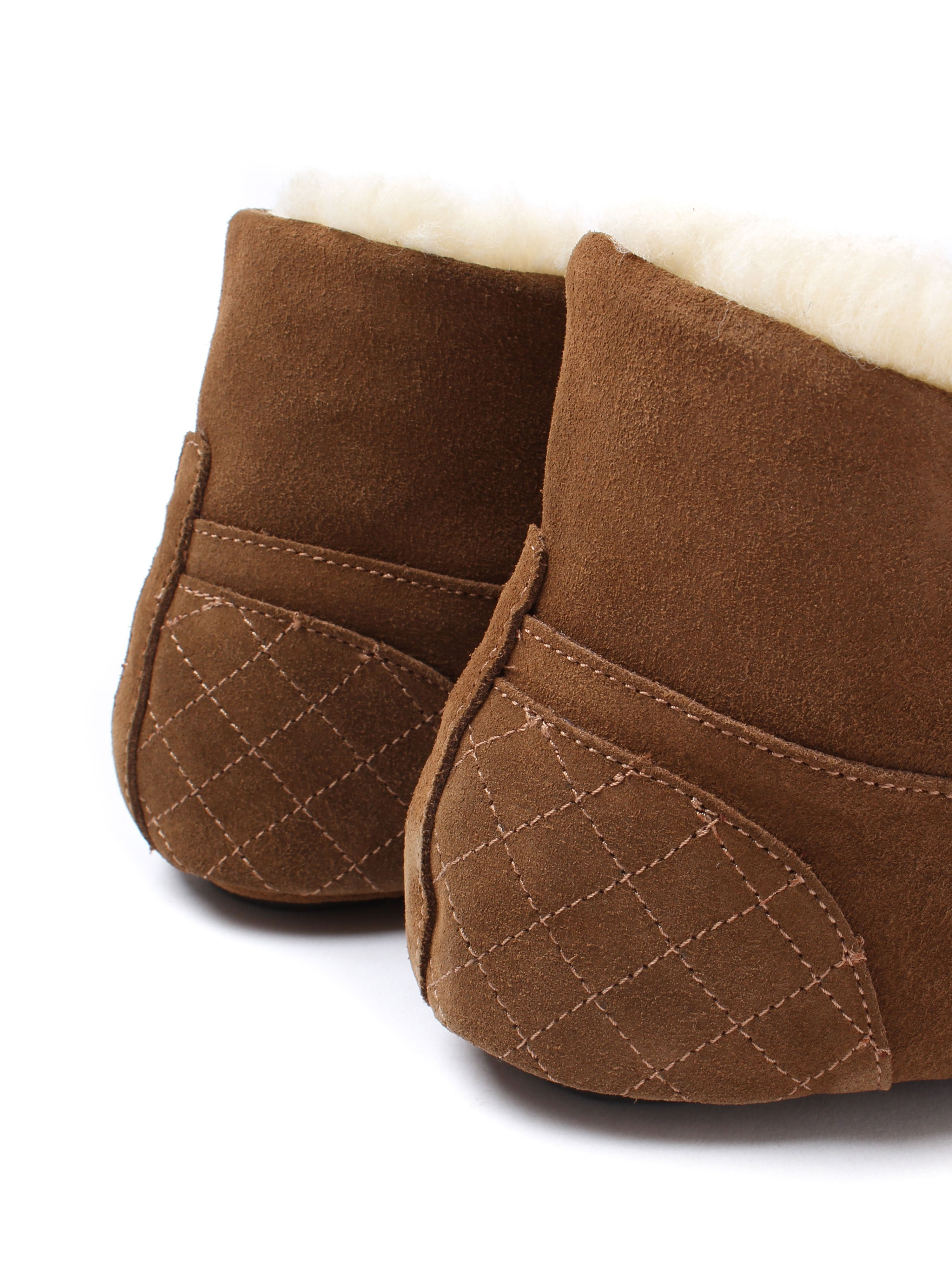 Barbour Women's Patsy Roll-Top Slippers - Camel Suede