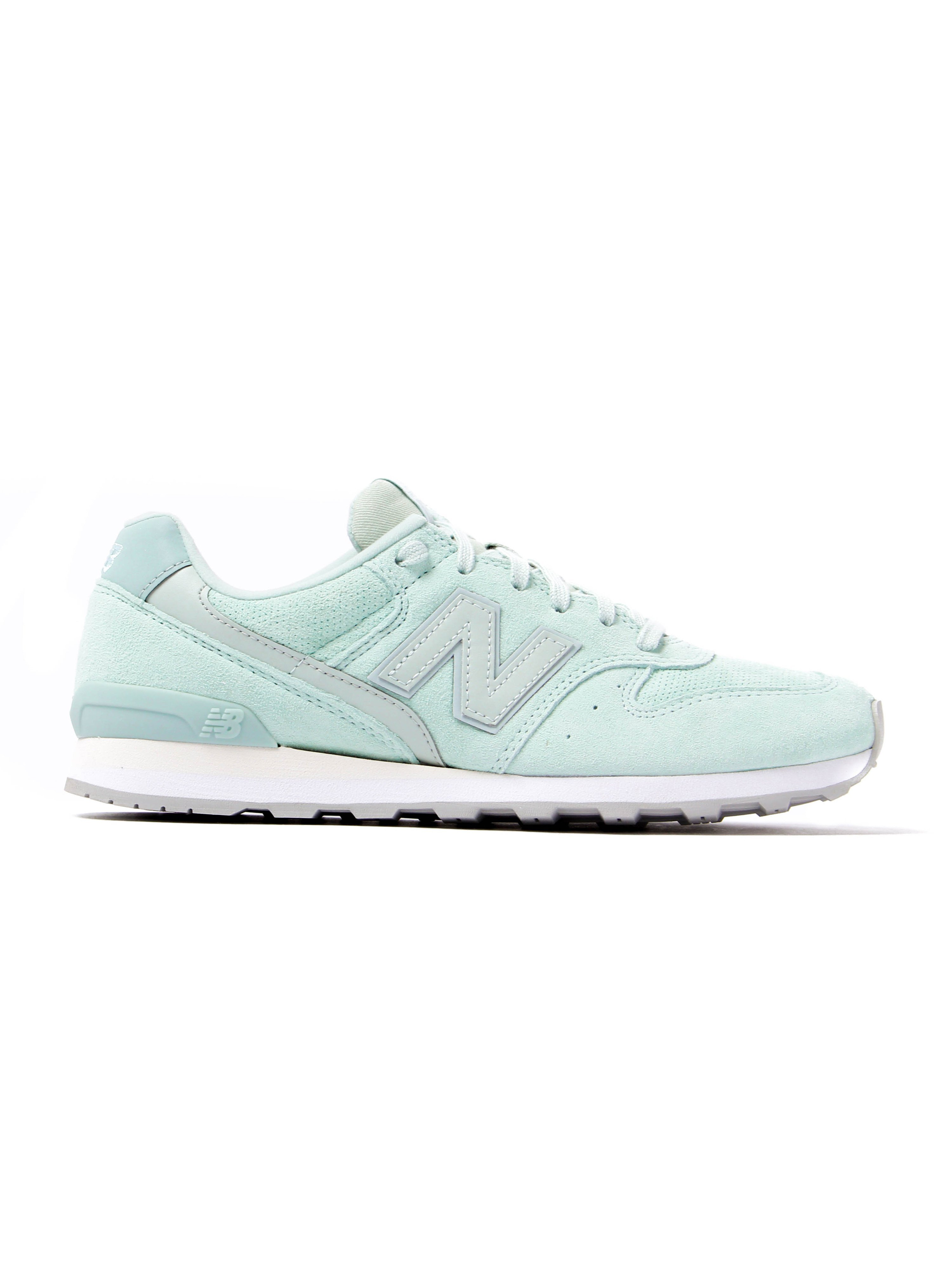 New Balance Women's 996 Trainers - Mint Green Suede
