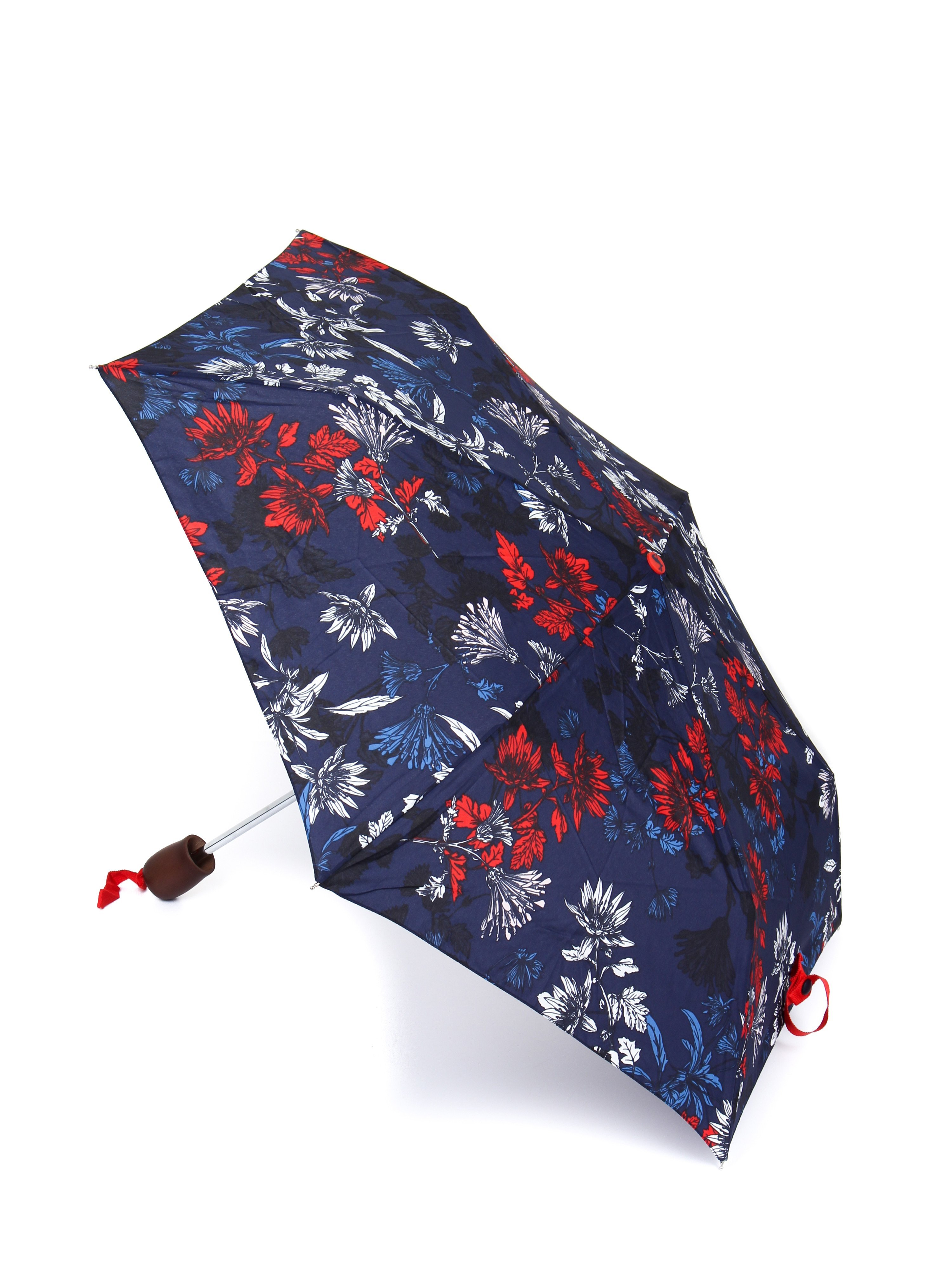 Joules Women's Floral Print Umbrella - French Navy