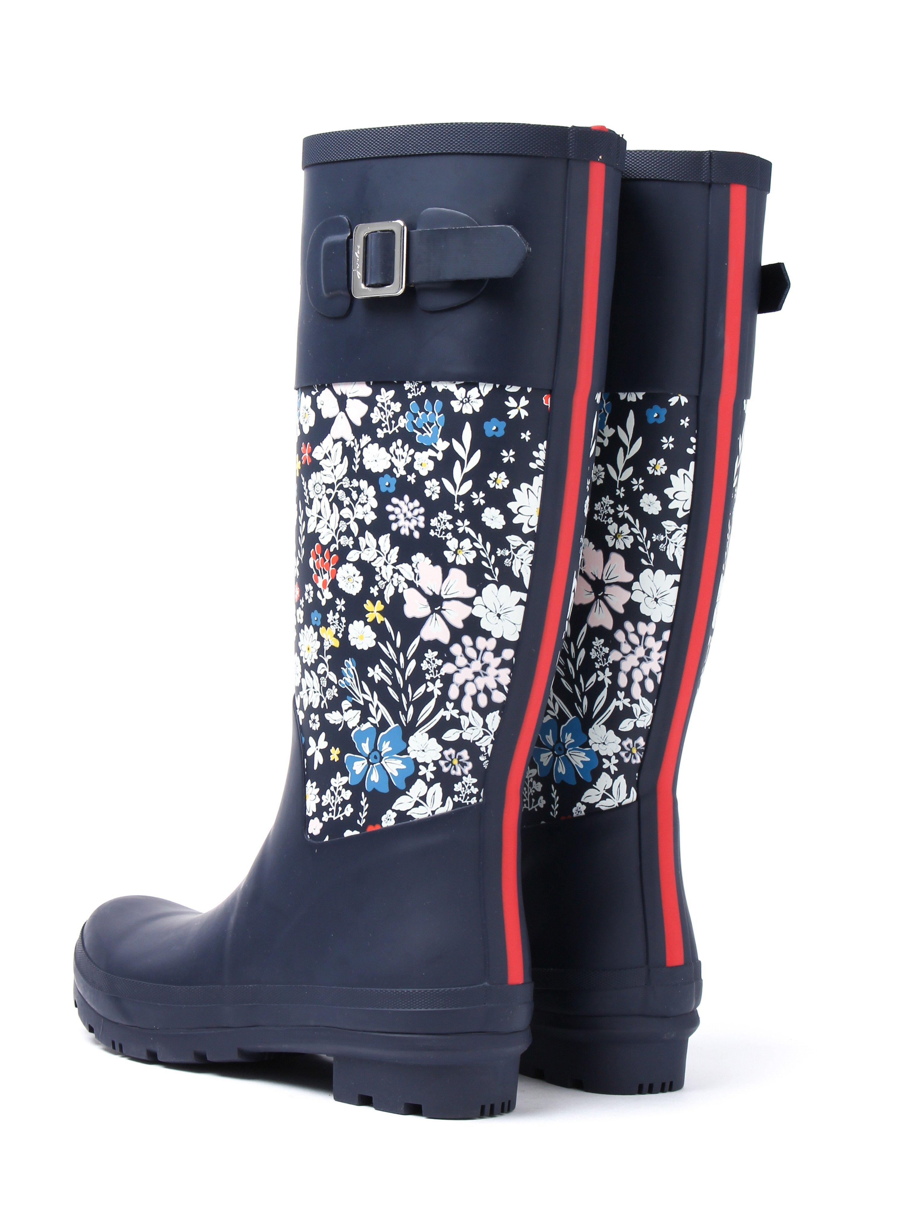 Joules Women's Wadebridge Tall Wellington Boots - Navy