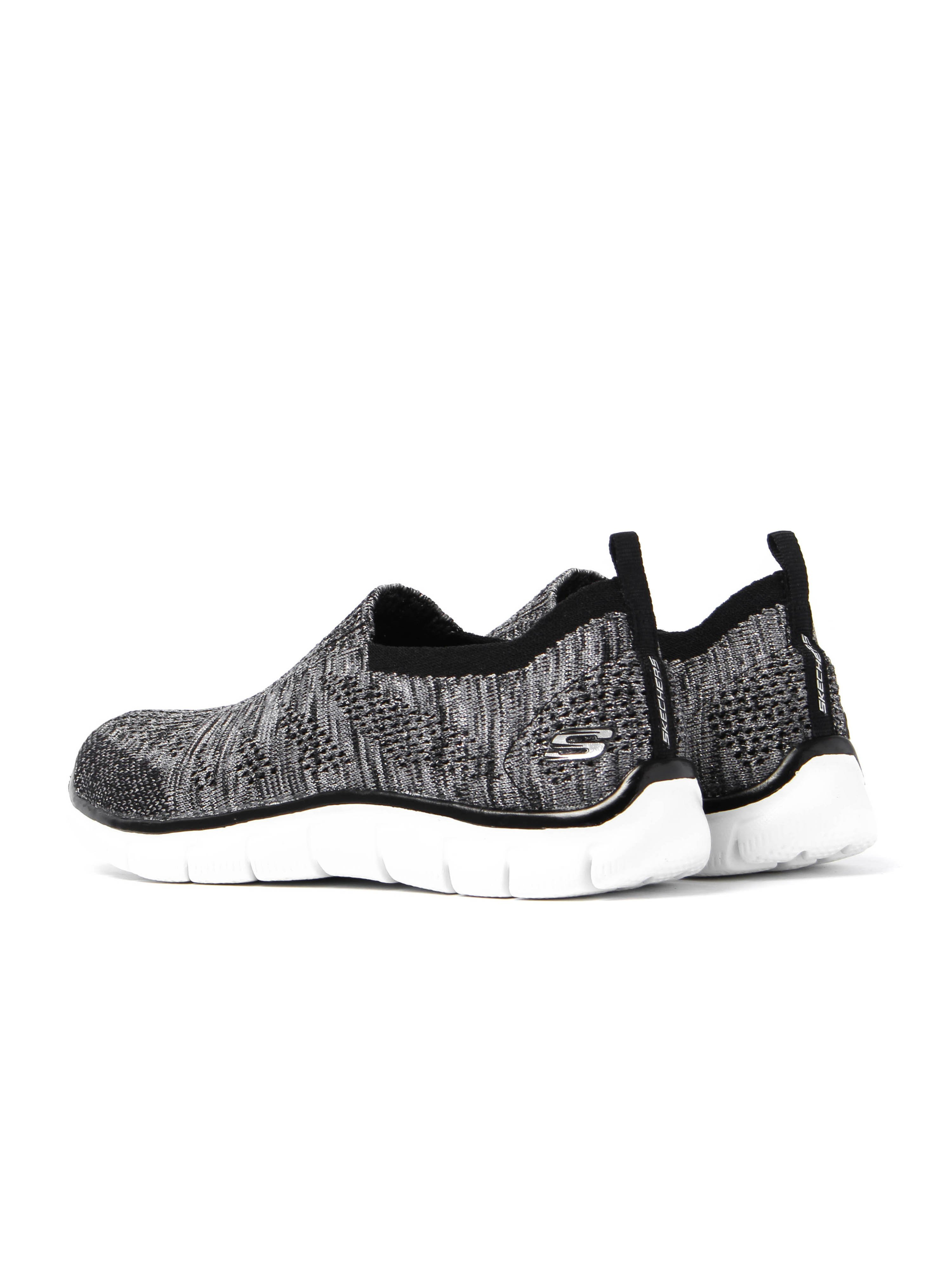 Skechers Women's Empire Round Up Trainers - Black & Silver