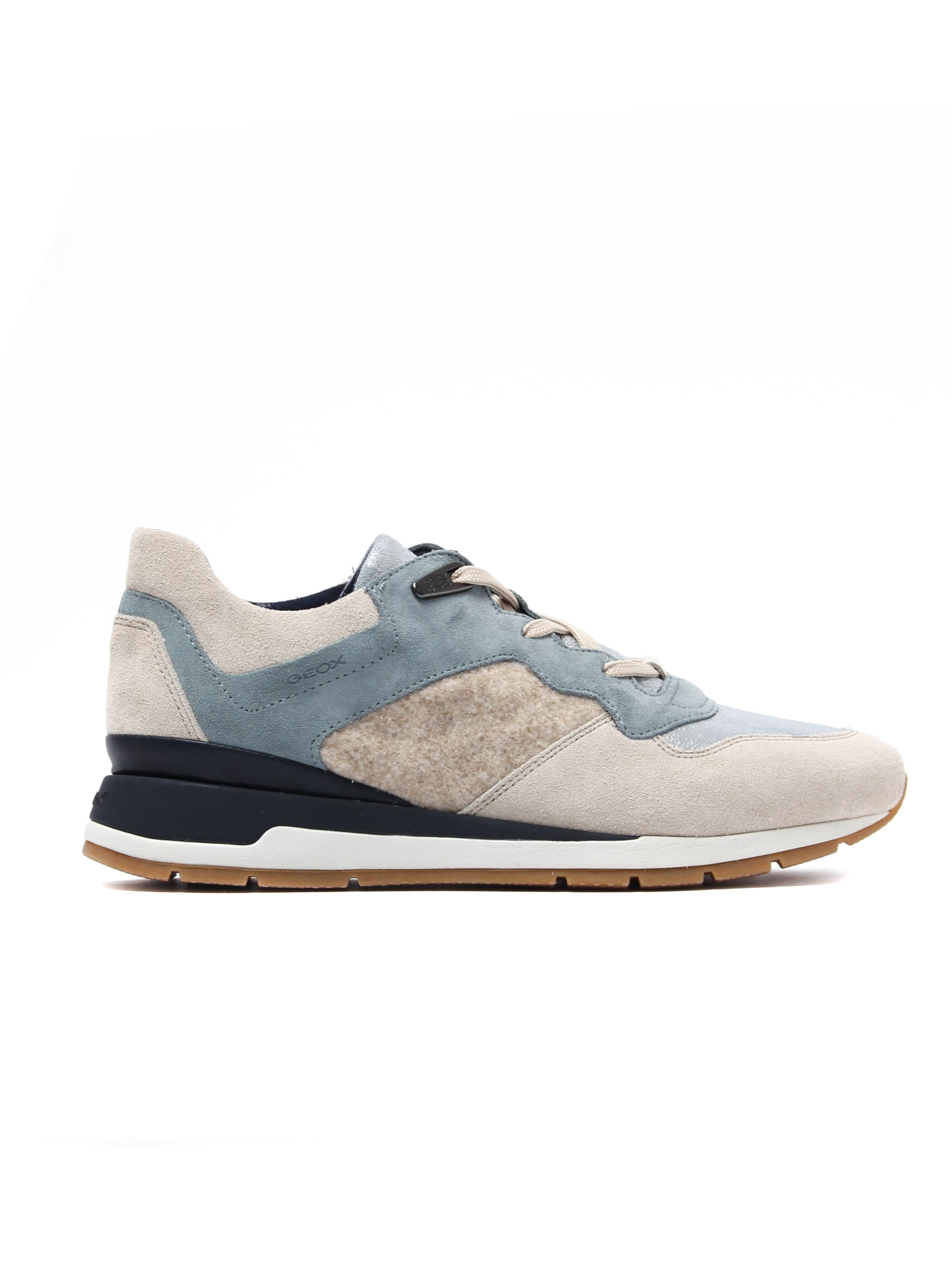 Geox Women's D Shahira Trainers - Sand Suede