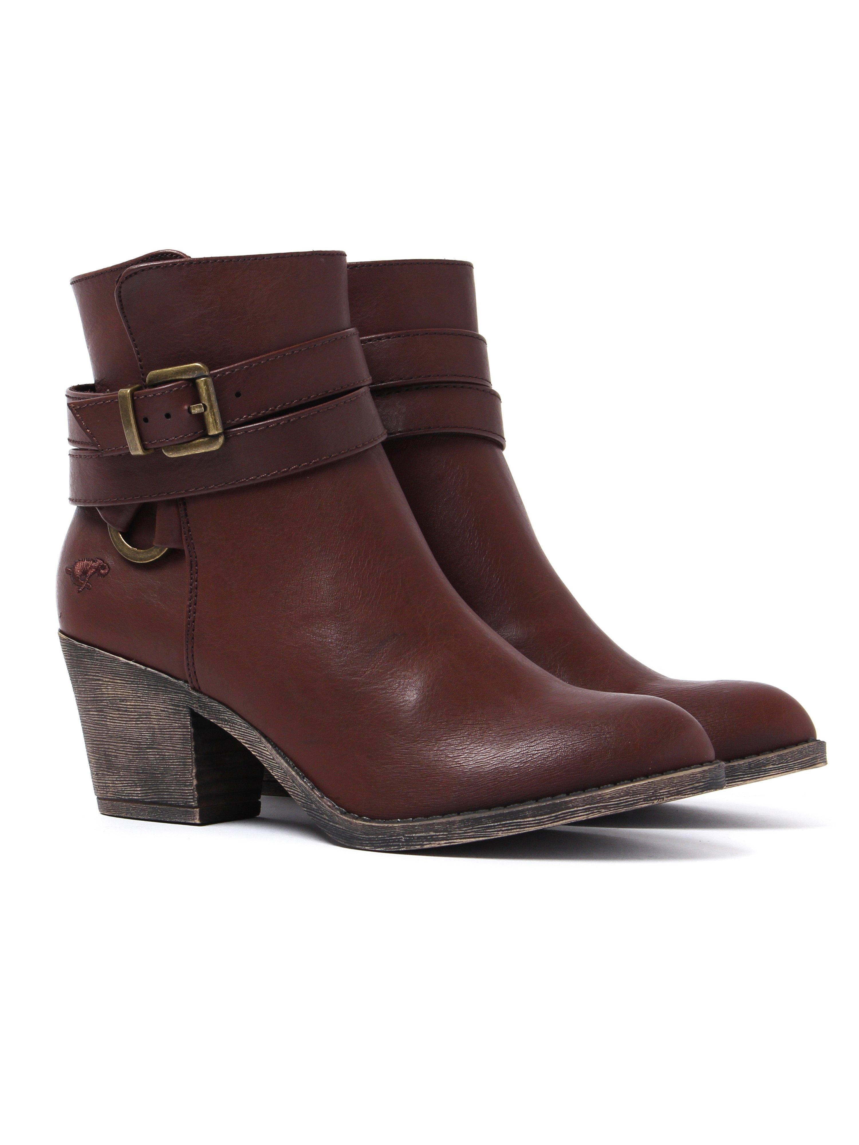Rocket Dog Women's Salvador Autumn Heeled Boots - Dark Brown