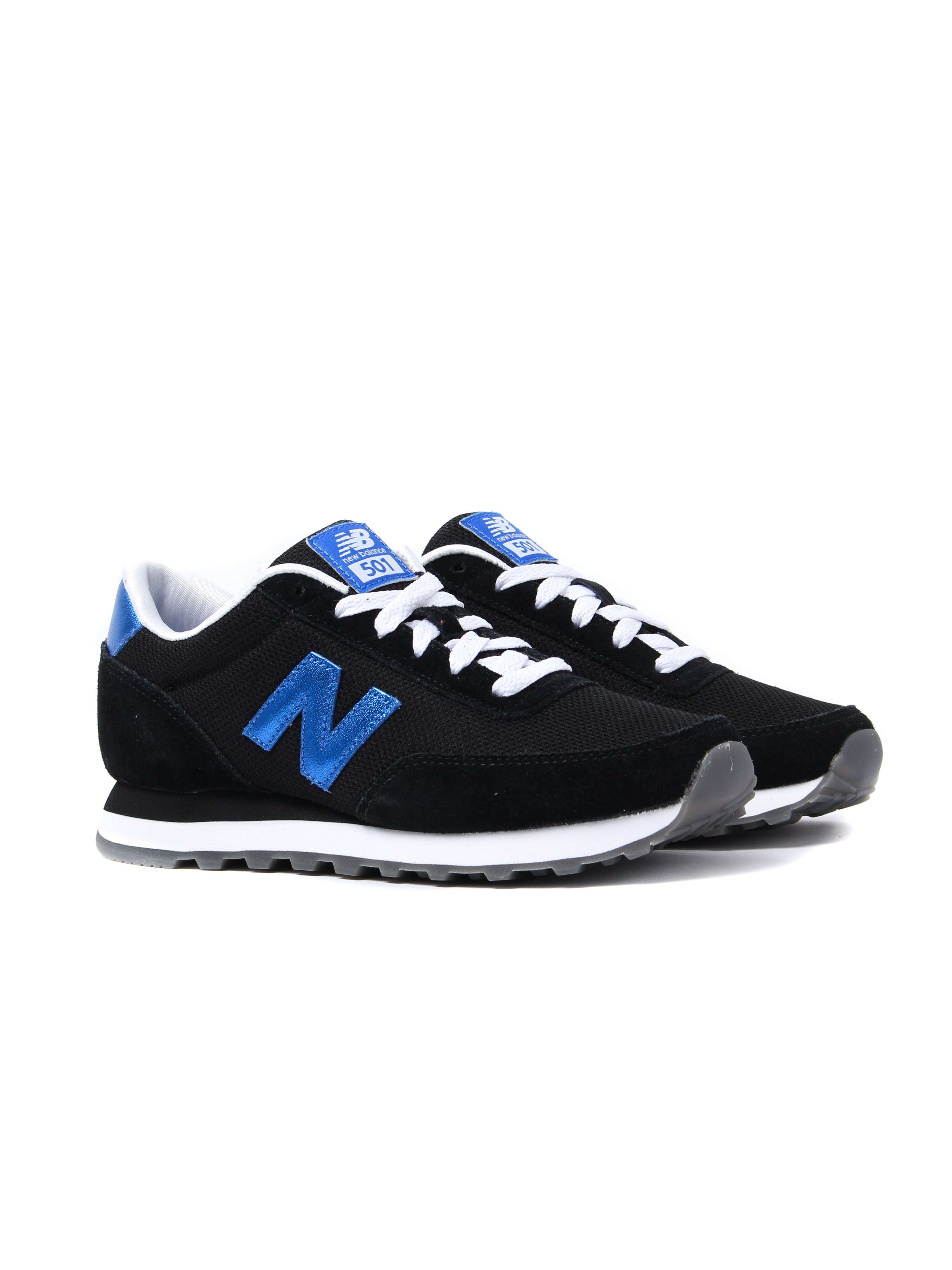 New Balance Women's 501 Trainers - Navy & Blue Suede