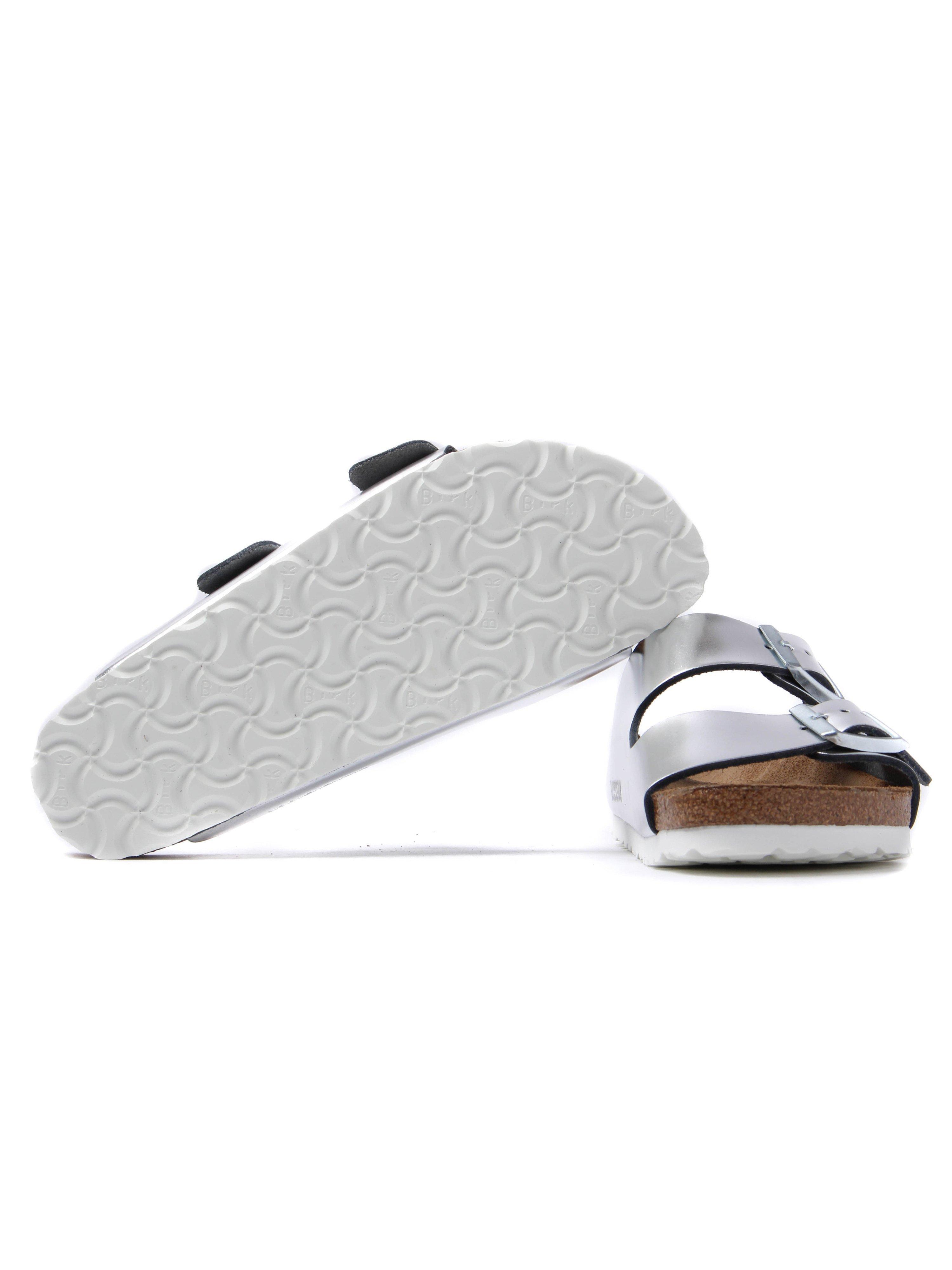 Birkenstock Women's Arizona Narrow Fit Leather Sandals - Silver
