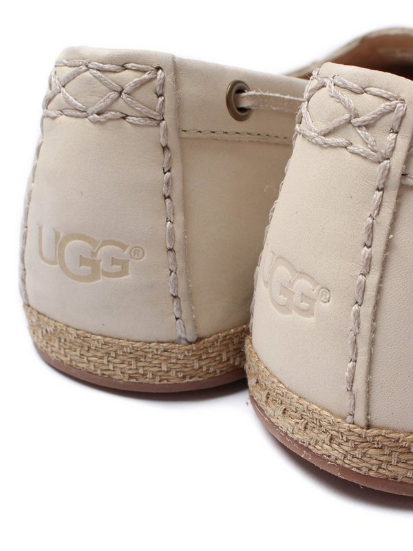 5a1581e2ca9 Details about UGG SUZETTE CHIVON LEATHER SLIP ON MOCCASINS SHOES - UK SIZE  5 - ANTIQUE WHITE