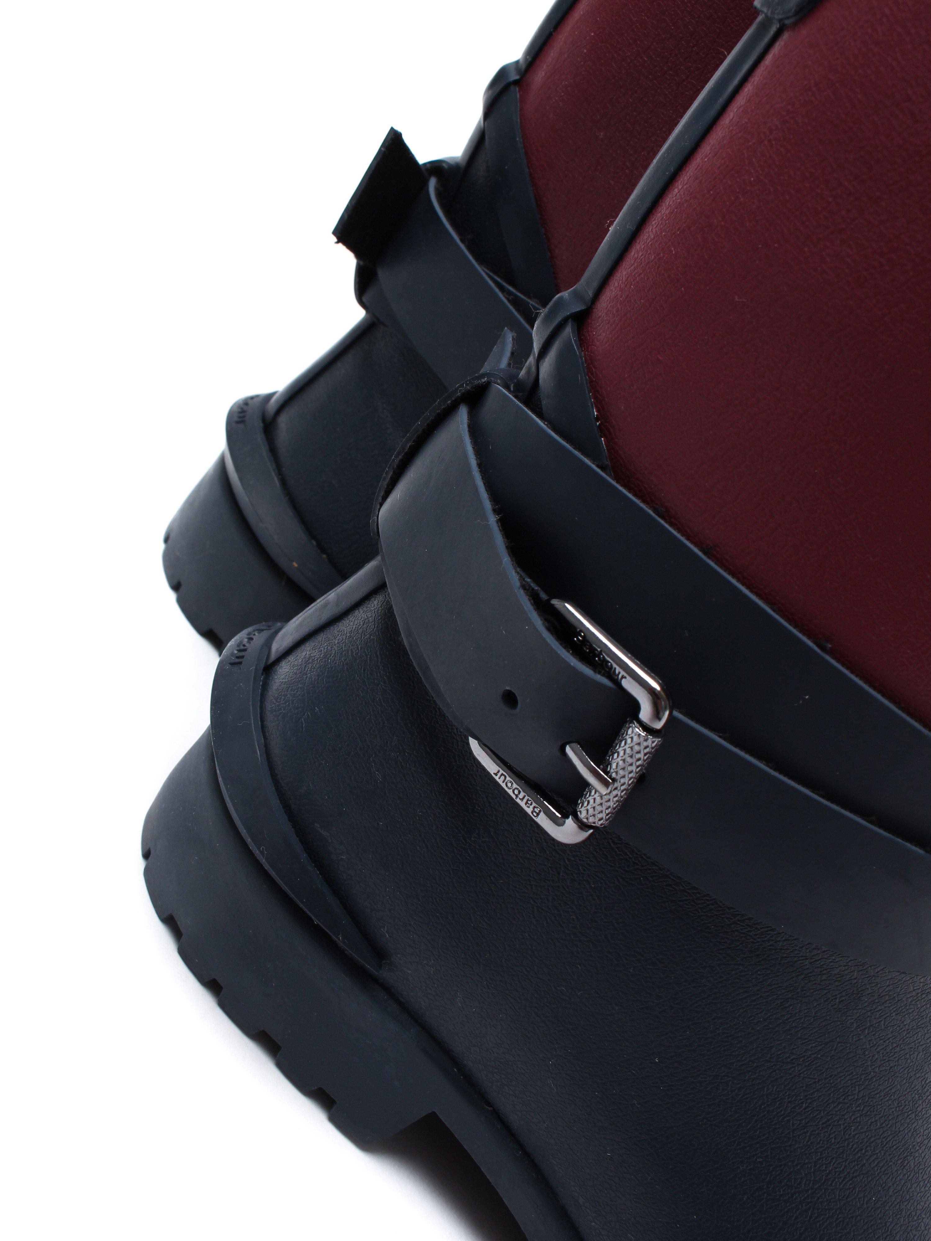 Barbour Women's Biker Buckle Welly - Navy Leather