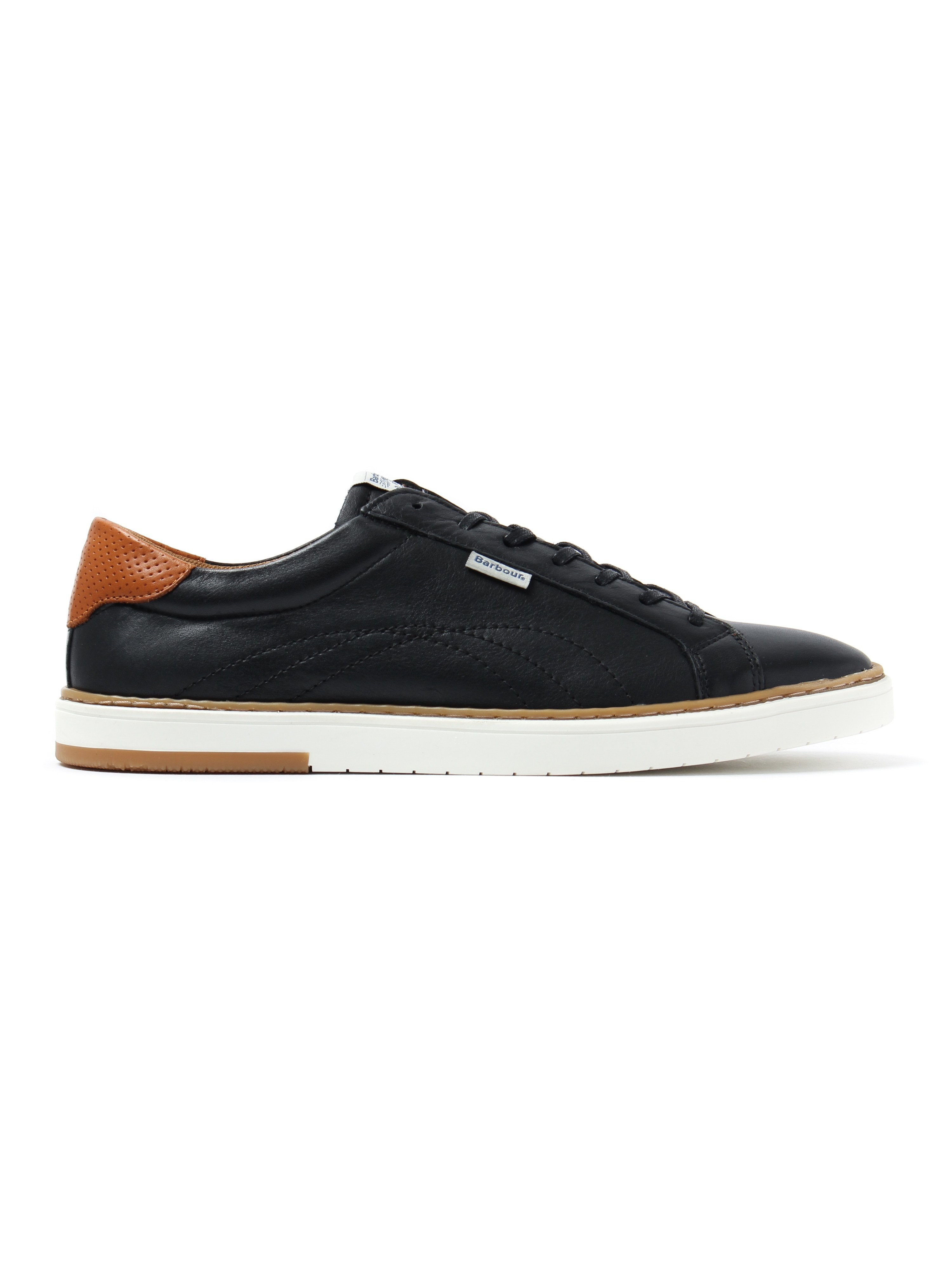 Barbour Men's Howdon Leather Trainers - Black