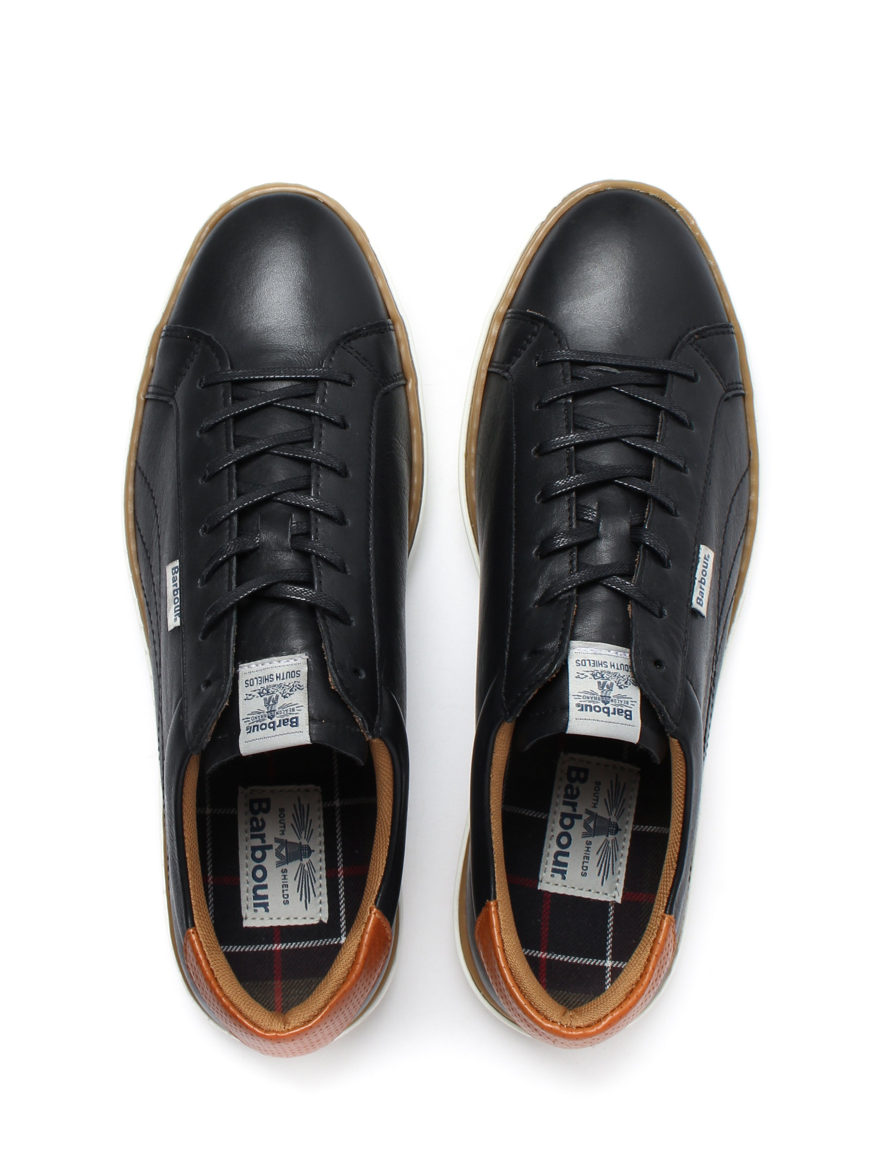 Barbour Mens Howdon Trainers - Black Leather