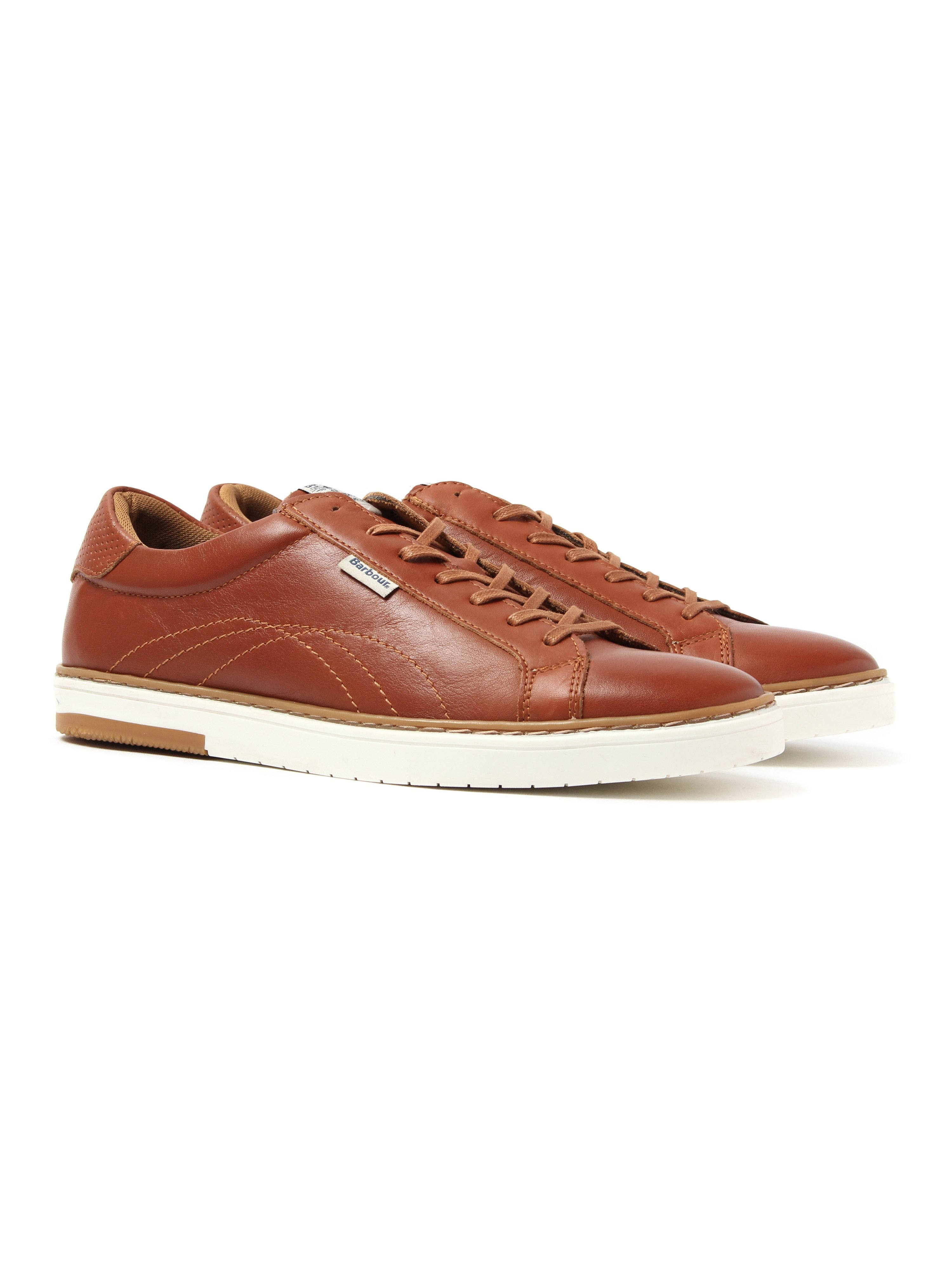 Barbour Men's Howdon Leather Trainers - Tan