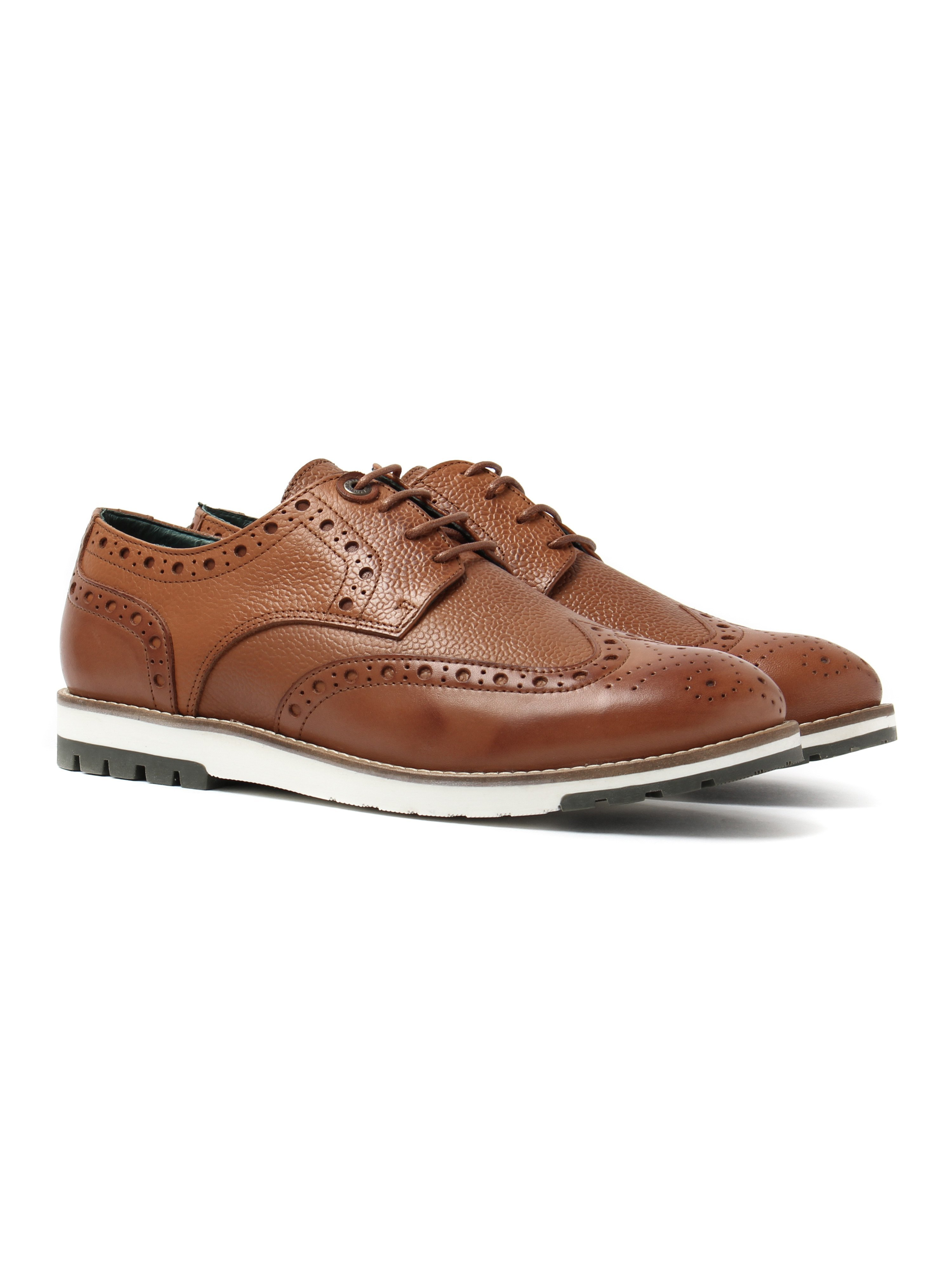 Barbour Mens Palmer Brogues - Tan Leather