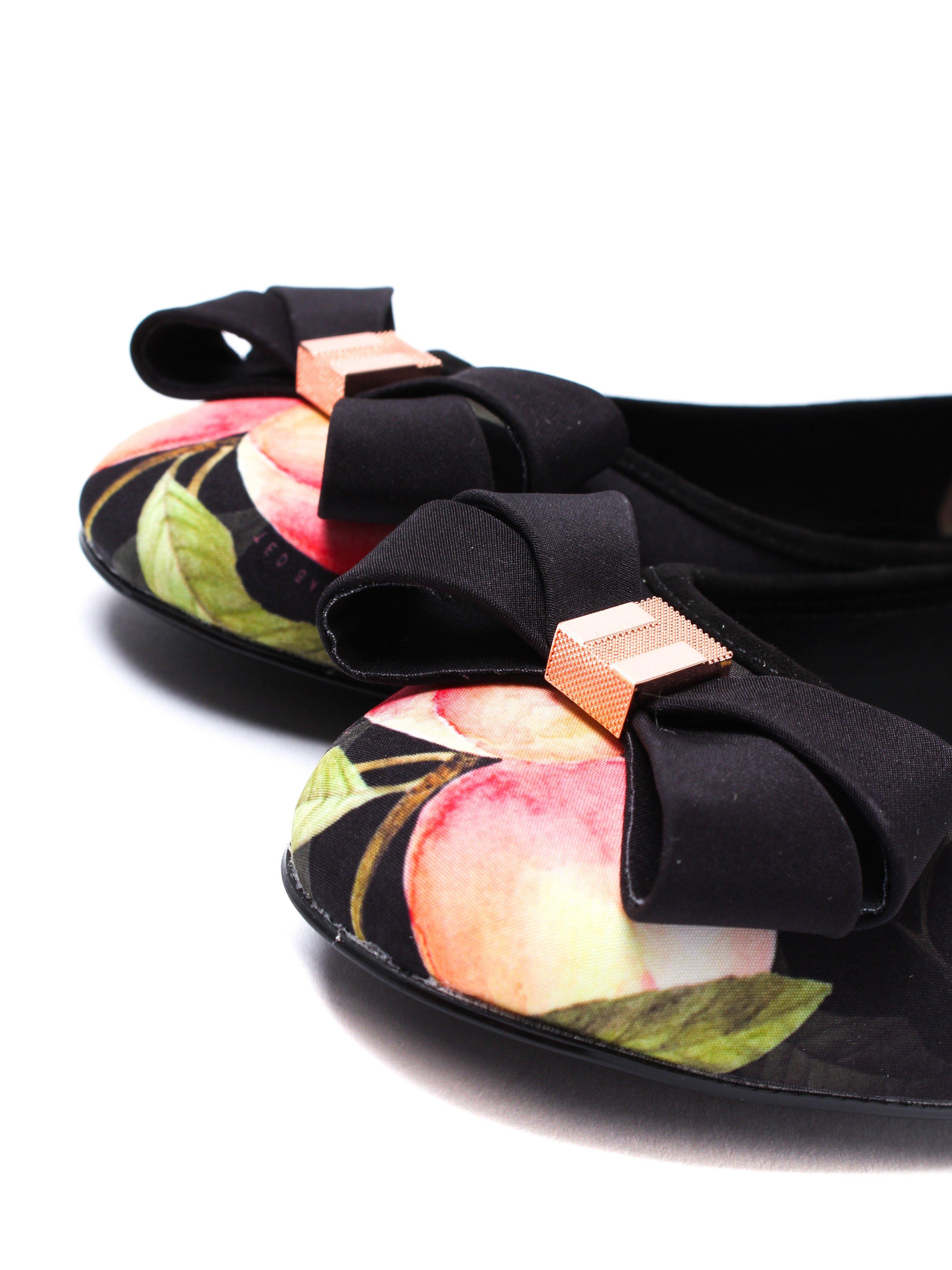 Ted Baker Women's Immep 2 Ballerinas - Black Peach Blossom